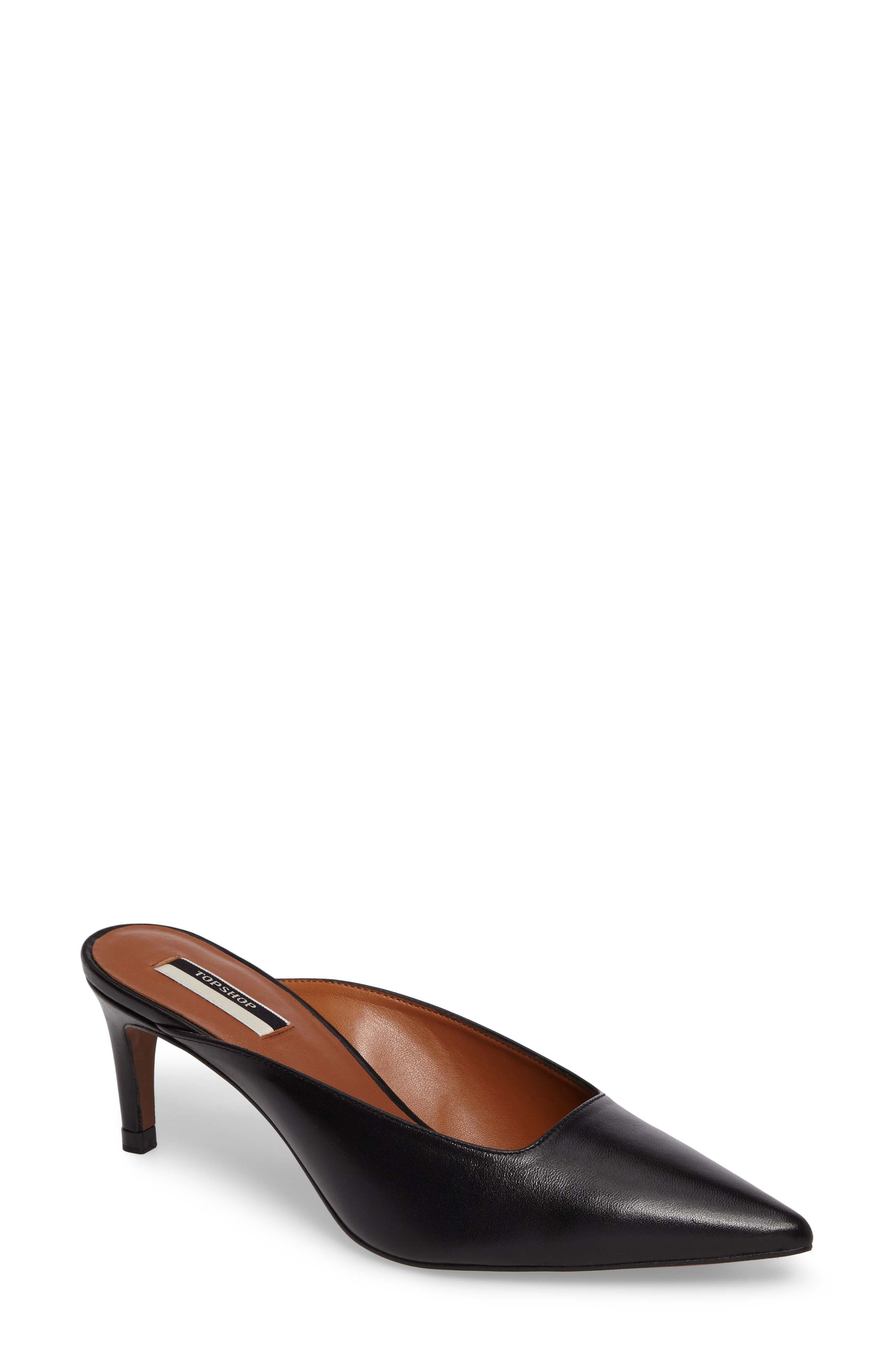 Joanne Pointy Toe Mule,                             Main thumbnail 1, color,                             001