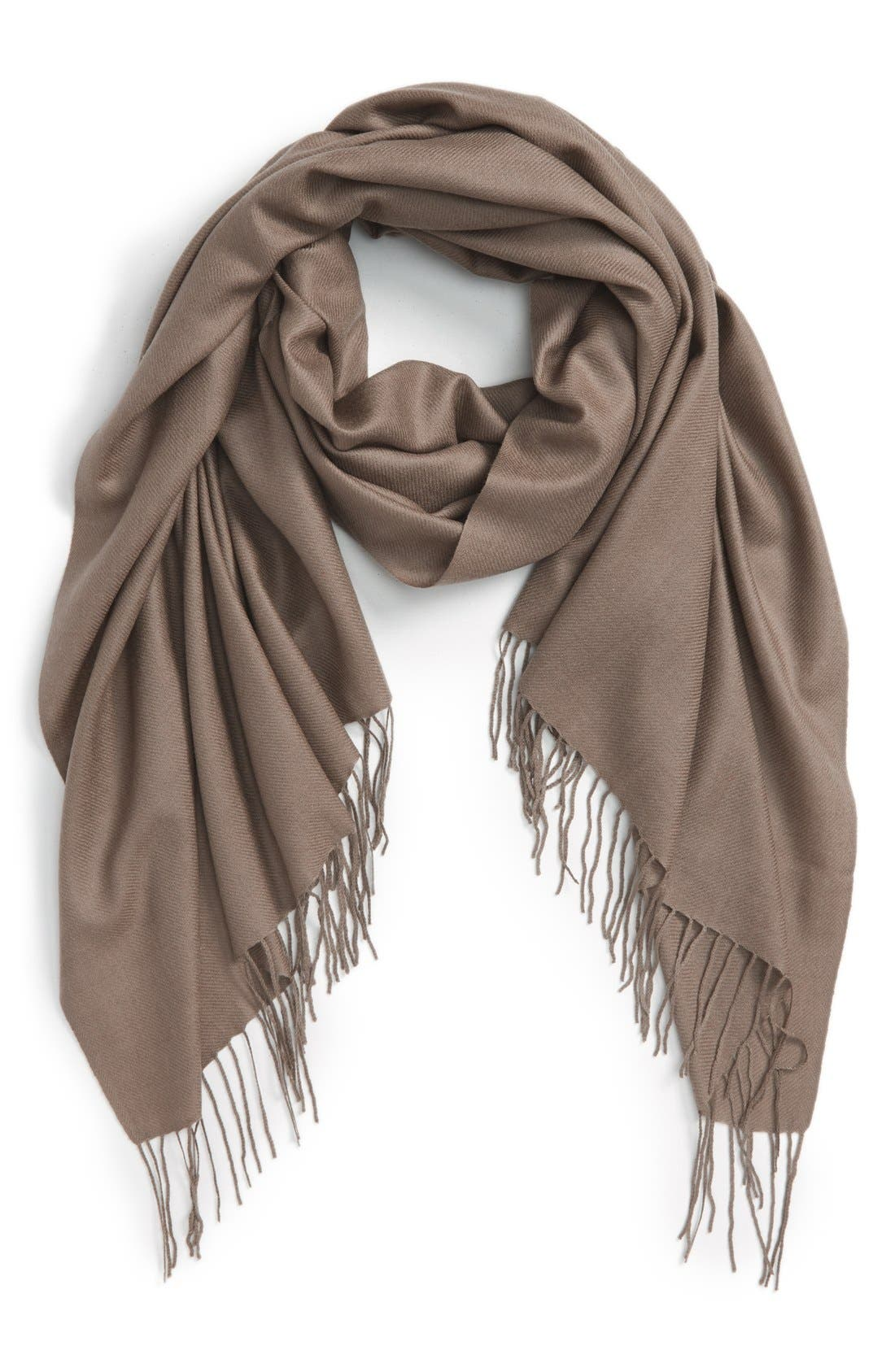 Tissue Weight Wool & Cashmere Scarf,                             Main thumbnail 18, color,