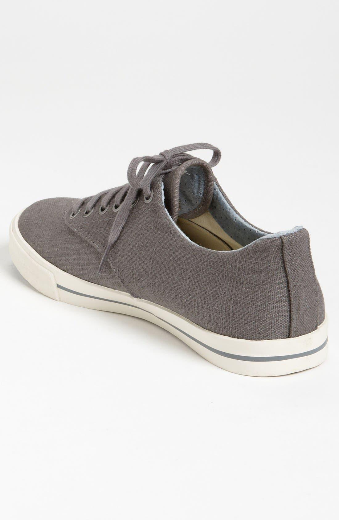 'Hermosa Plimsoll' Sneaker,                             Alternate thumbnail 9, color,                             TIN GREY VINTAGE WASH LINEN