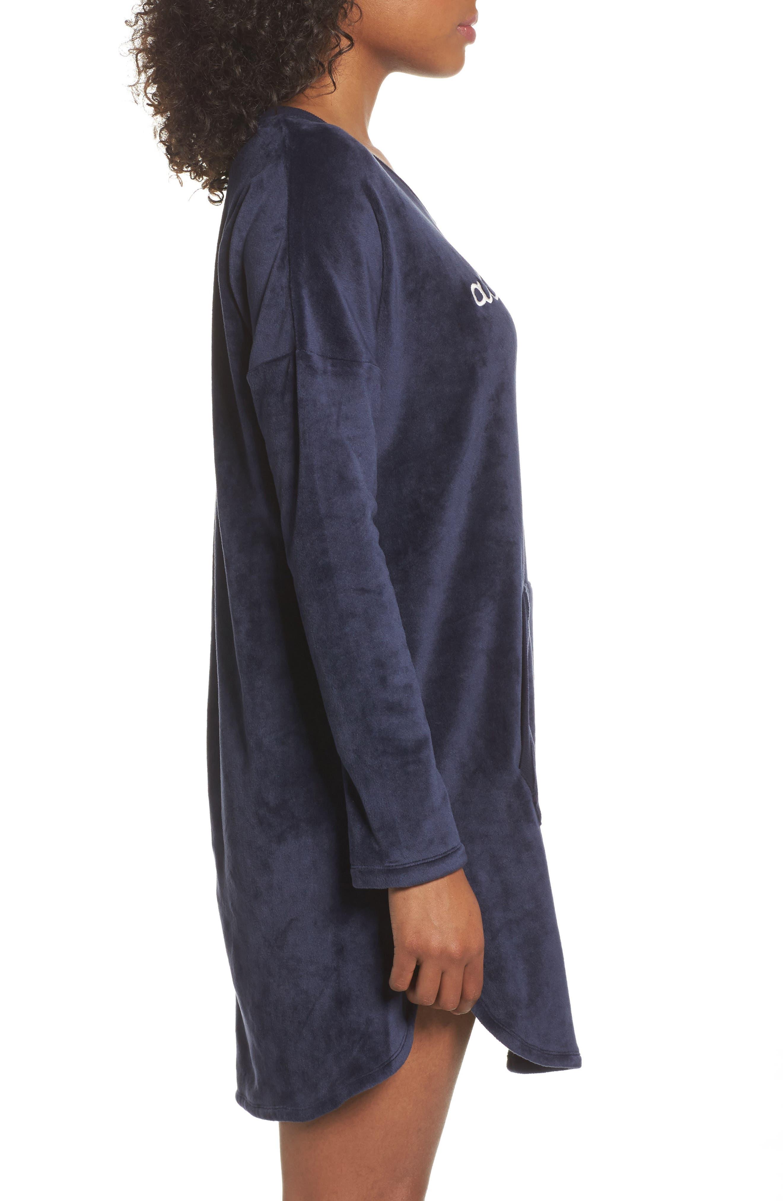 Luxury Plush Sleep Shirt,                             Alternate thumbnail 6, color,
