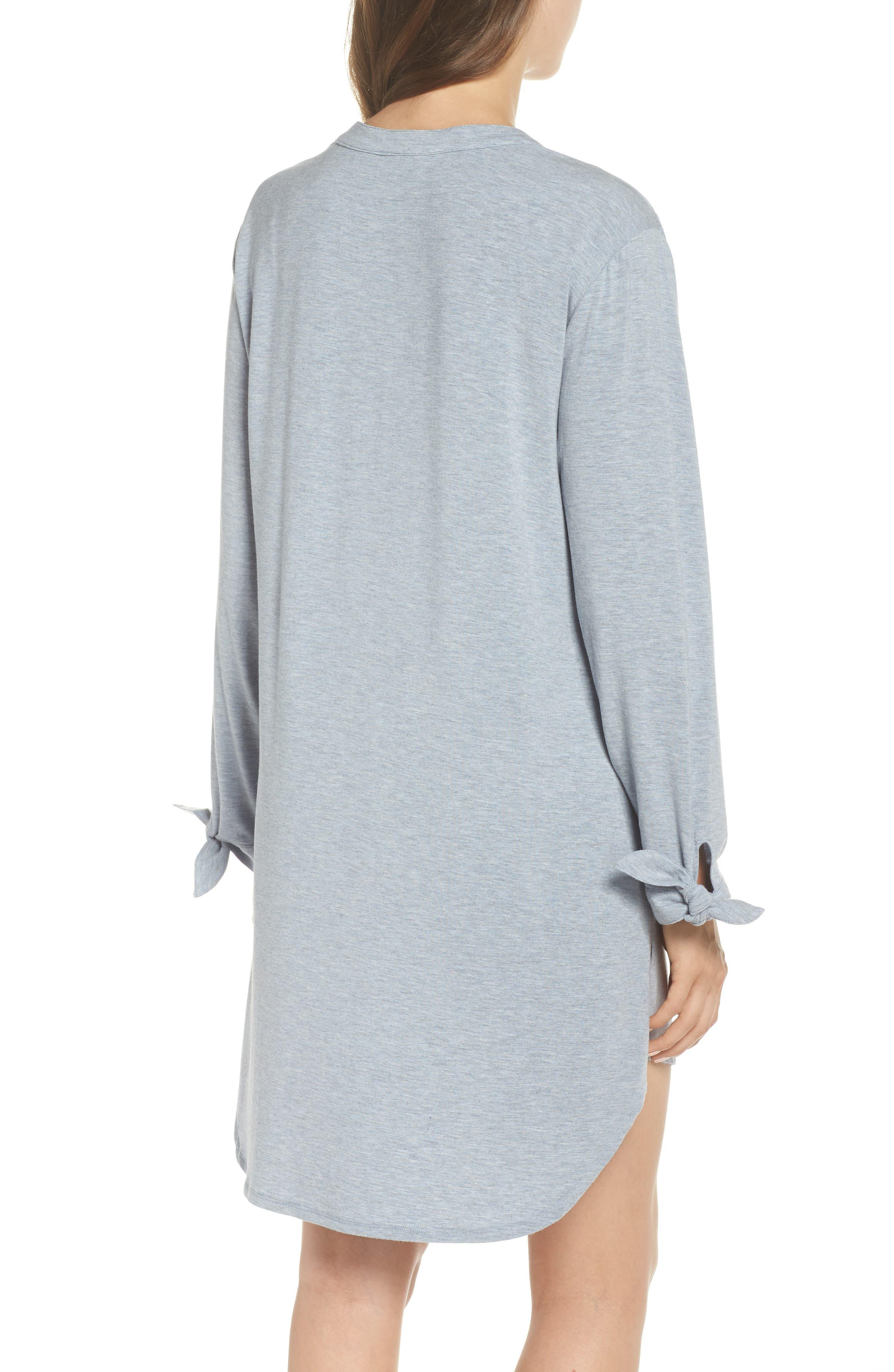 Breathe Modal Jersey Sleep Shirt,                             Alternate thumbnail 4, color,