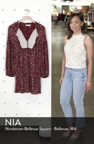 Mix Print Peasant Dress, sales video thumbnail