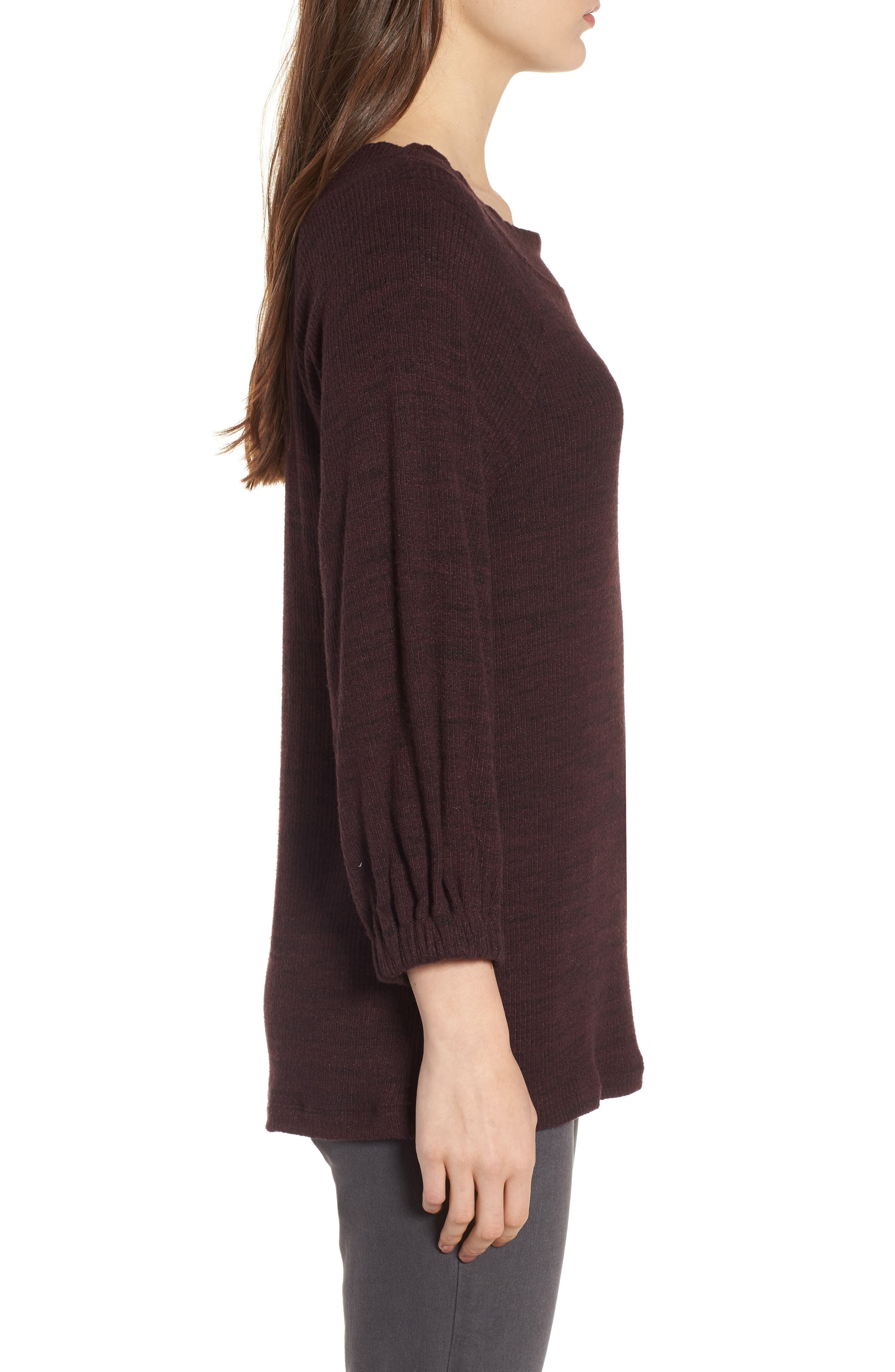 Triblend Ribbed Top,                             Alternate thumbnail 6, color,