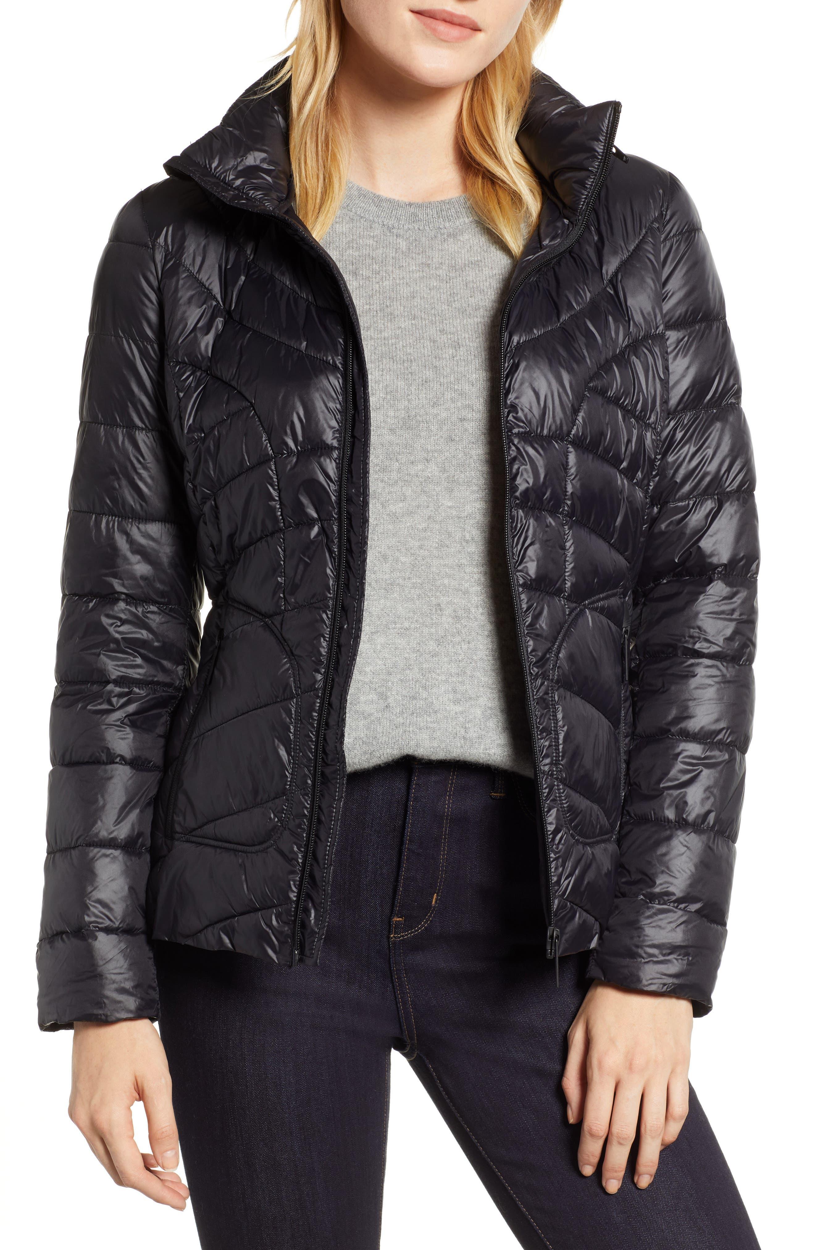 Puffer Jacket,                             Main thumbnail 1, color,                             BLACK
