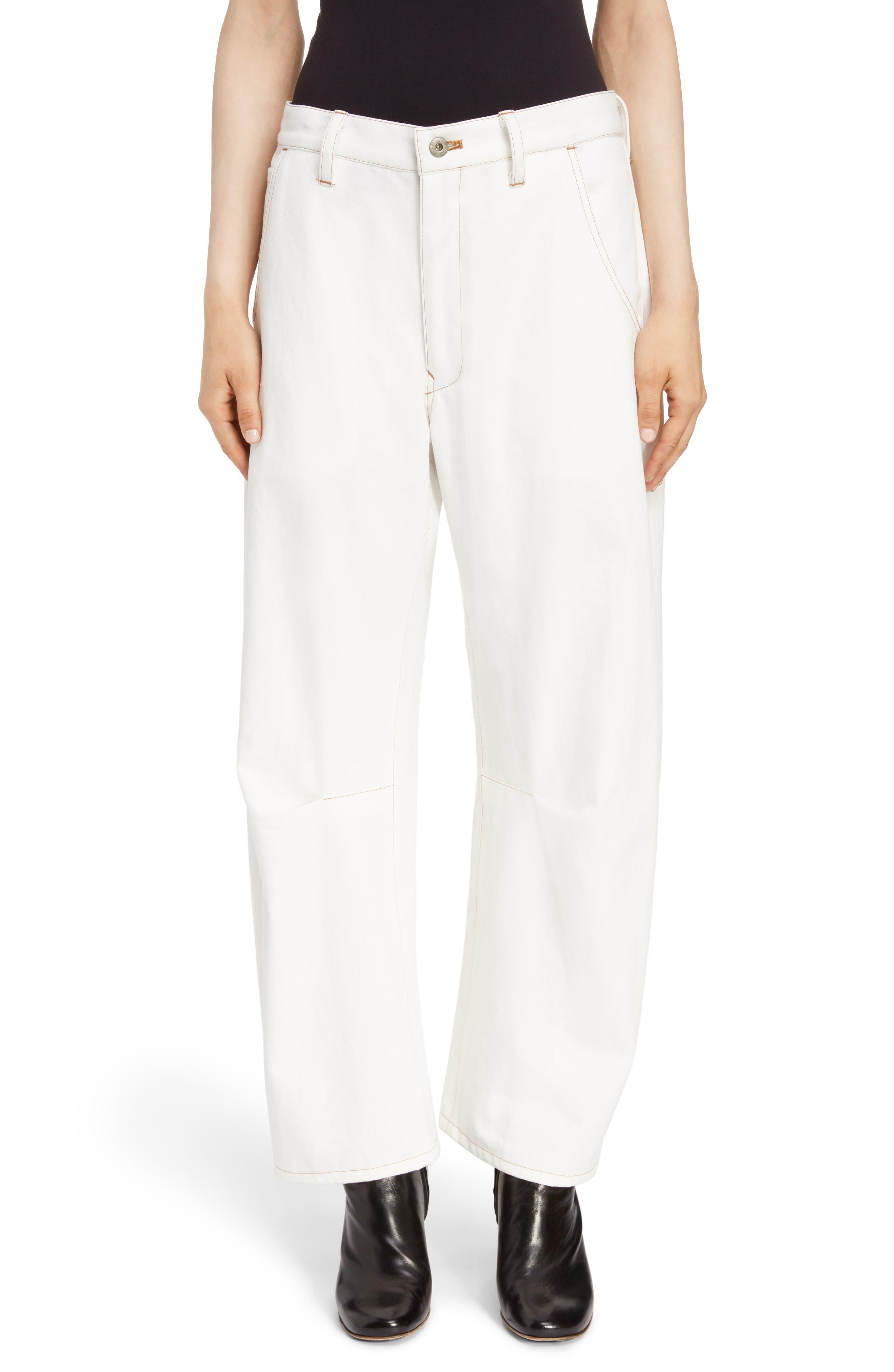 Wide Leg Pants,                         Main,                         color, WHITE
