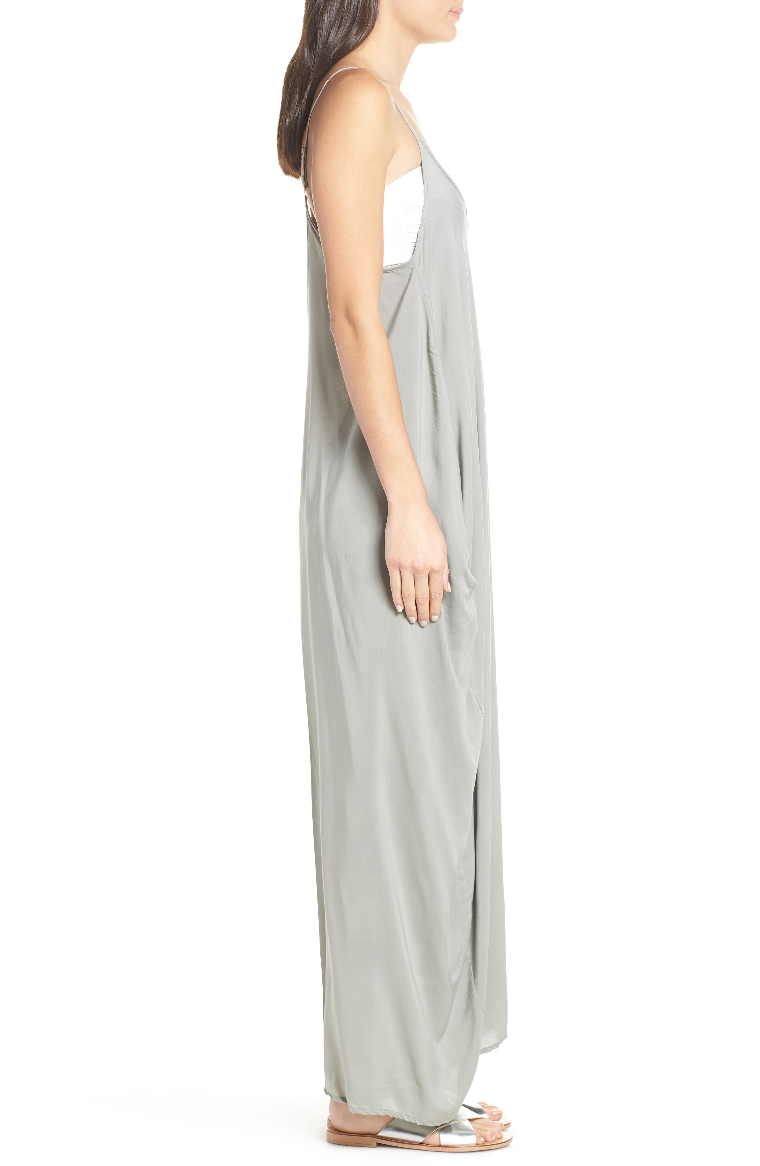 ELAN,                             V-Back Cover-Up Maxi Dress,                             Alternate thumbnail 3, color,                             SAGE