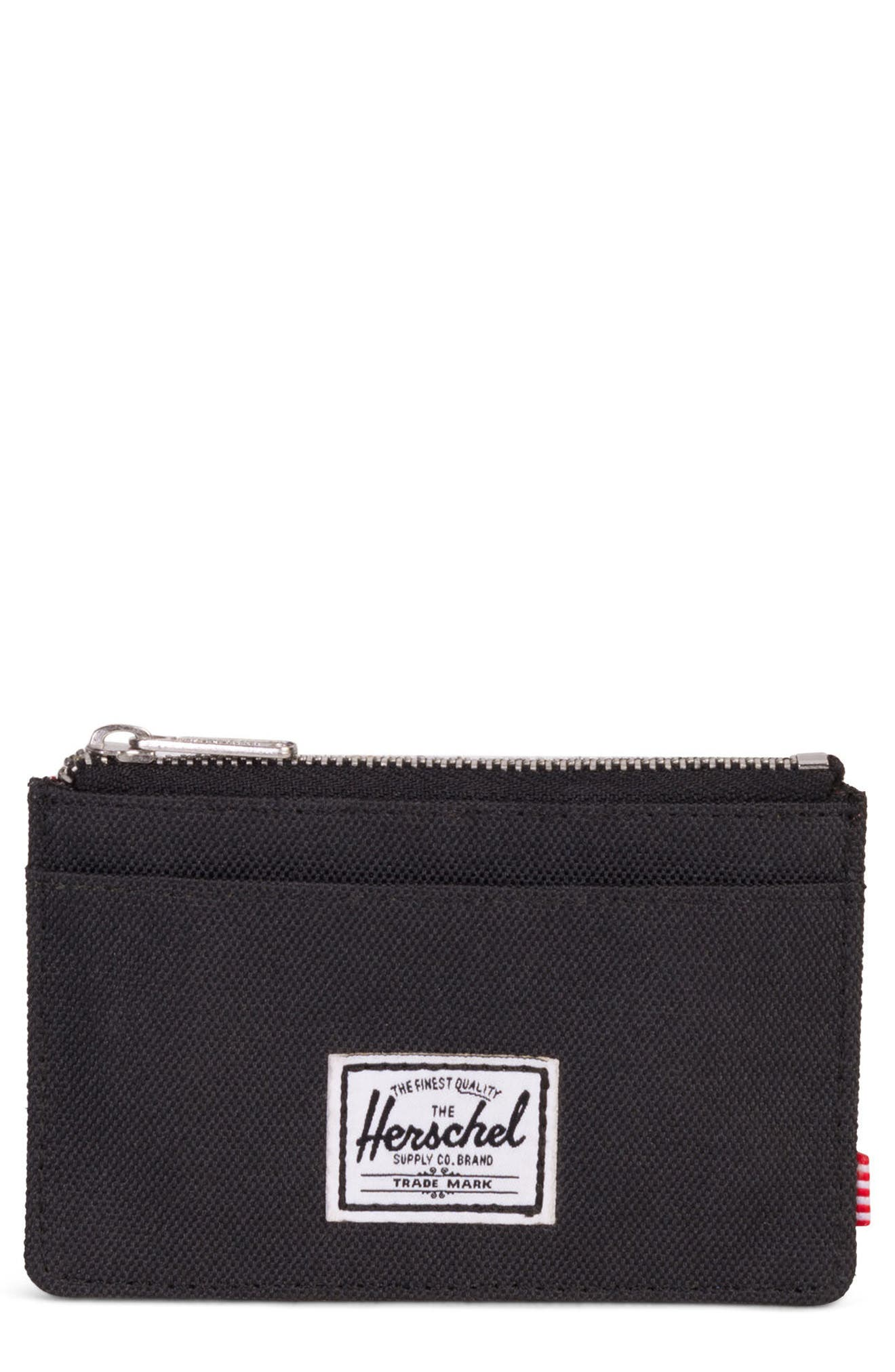 Oscar Card Case,                             Main thumbnail 1, color,                             BLACK