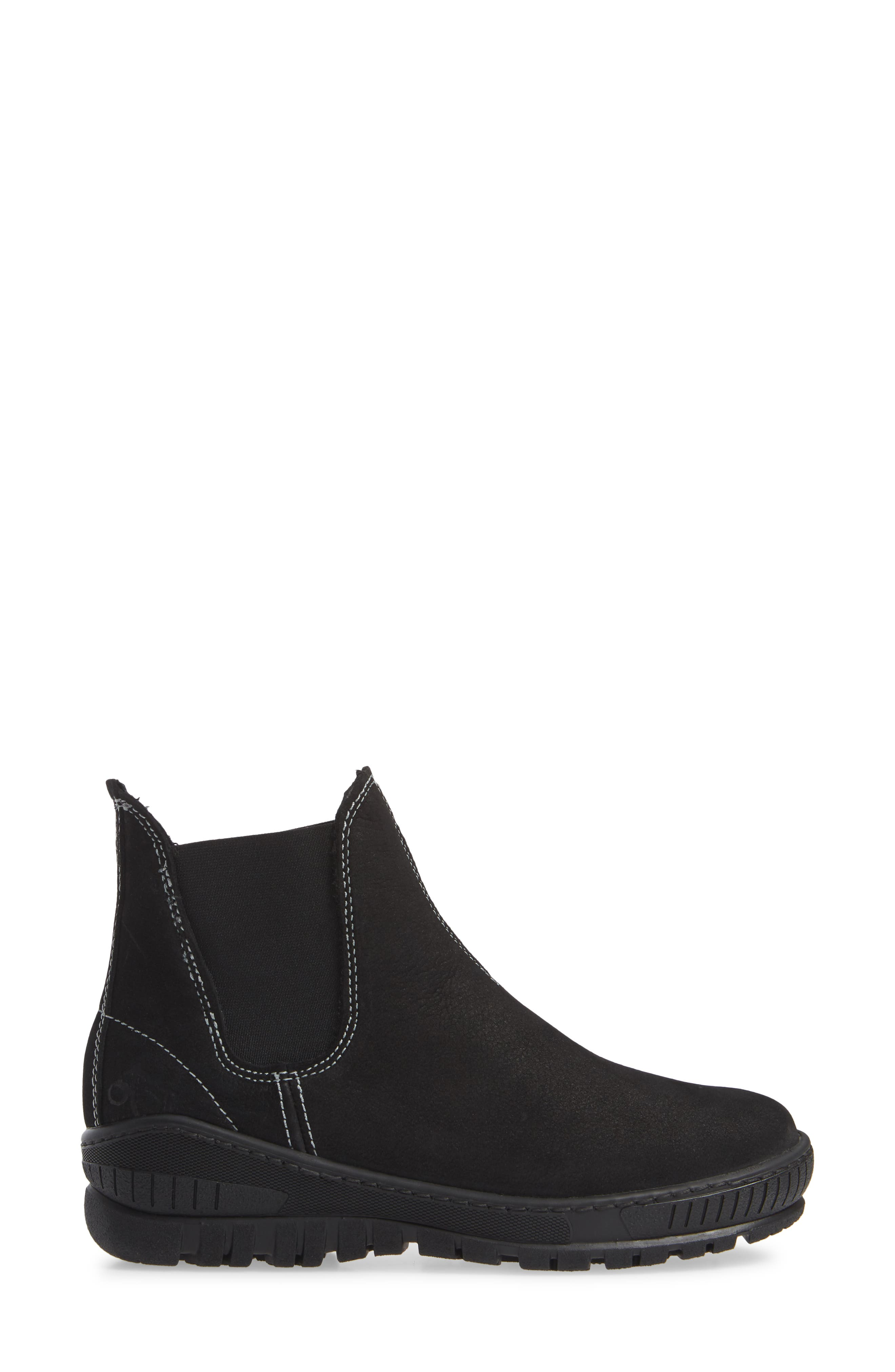 Embark Chelsea Bootie,                             Alternate thumbnail 3, color,                             BLACK LEATHER