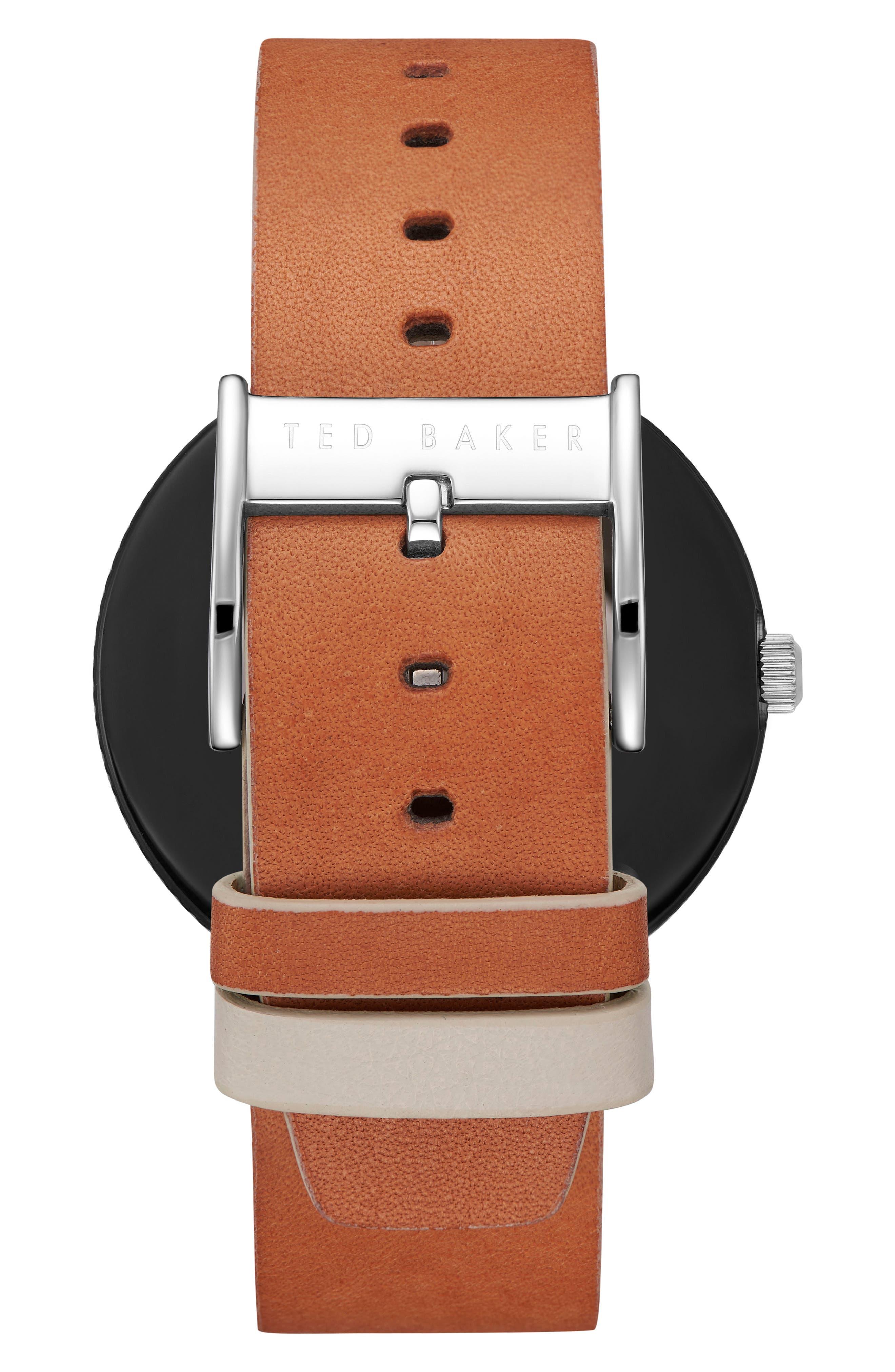 Josh Leather Strap Watch, 42mm,                             Alternate thumbnail 2, color,                             204