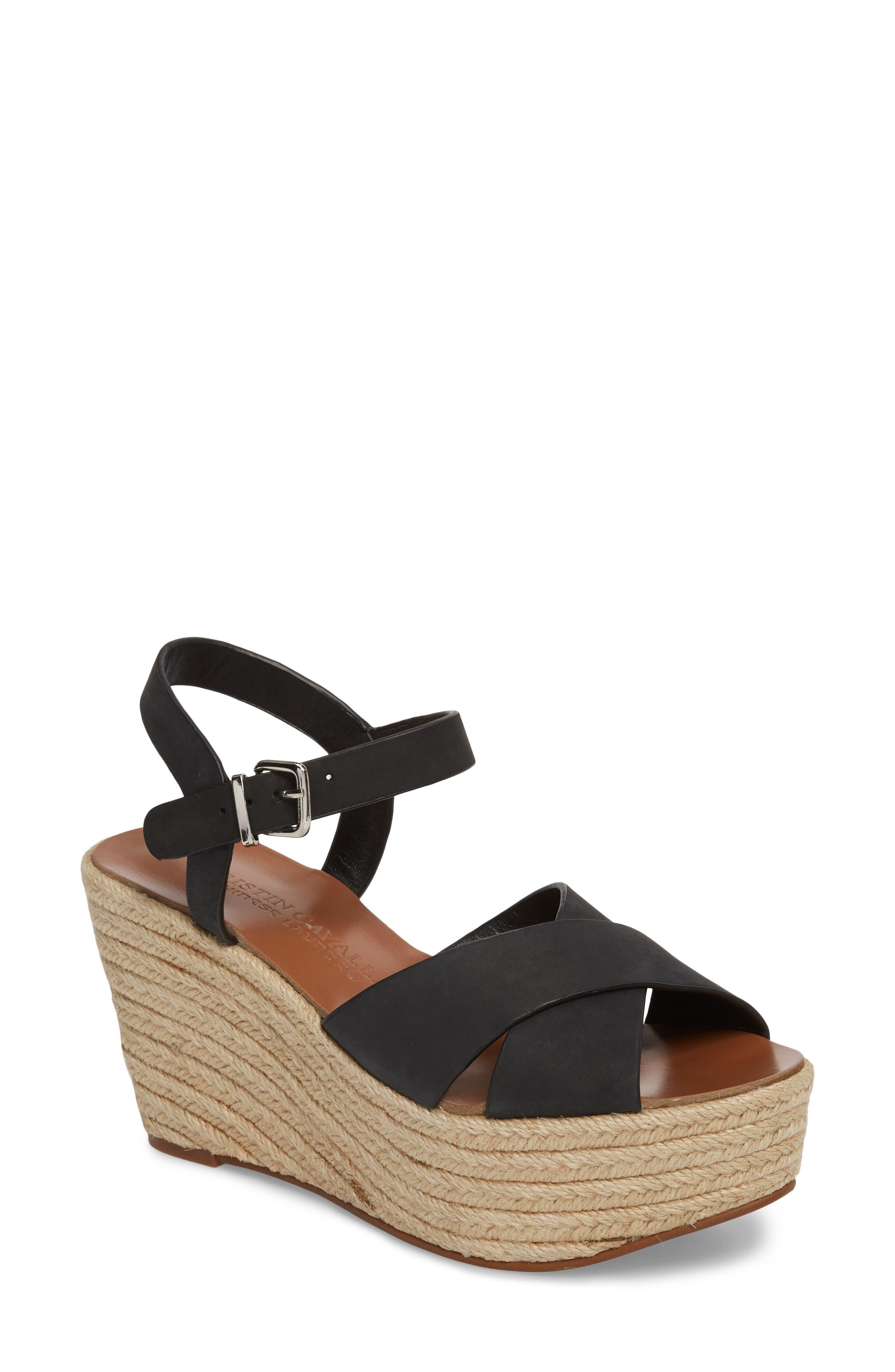 Mikah Espadrille Wedge Sandal,                         Main,                         color, 001
