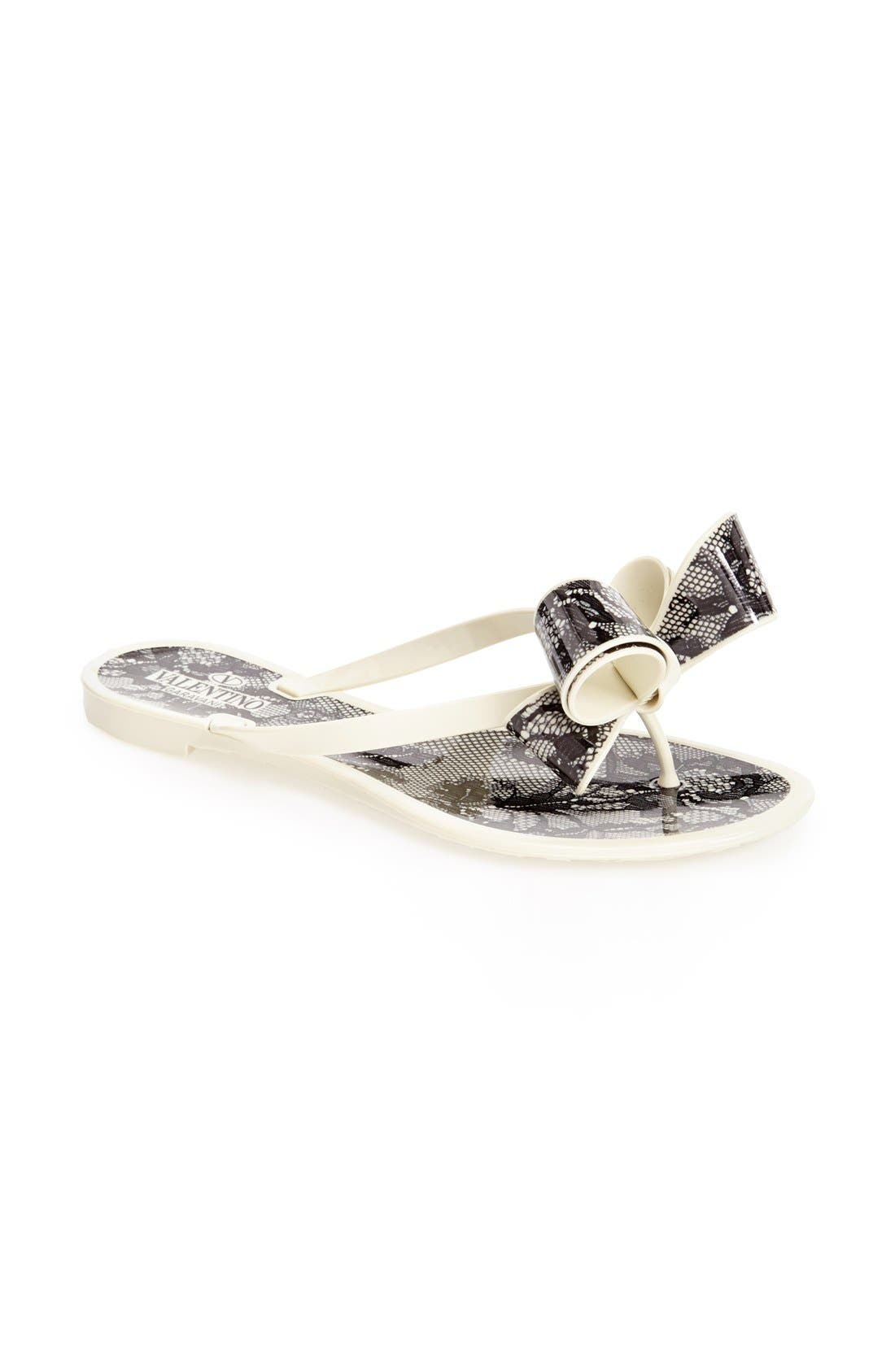 Couture Bow Thong Sandal,                             Alternate thumbnail 36, color,
