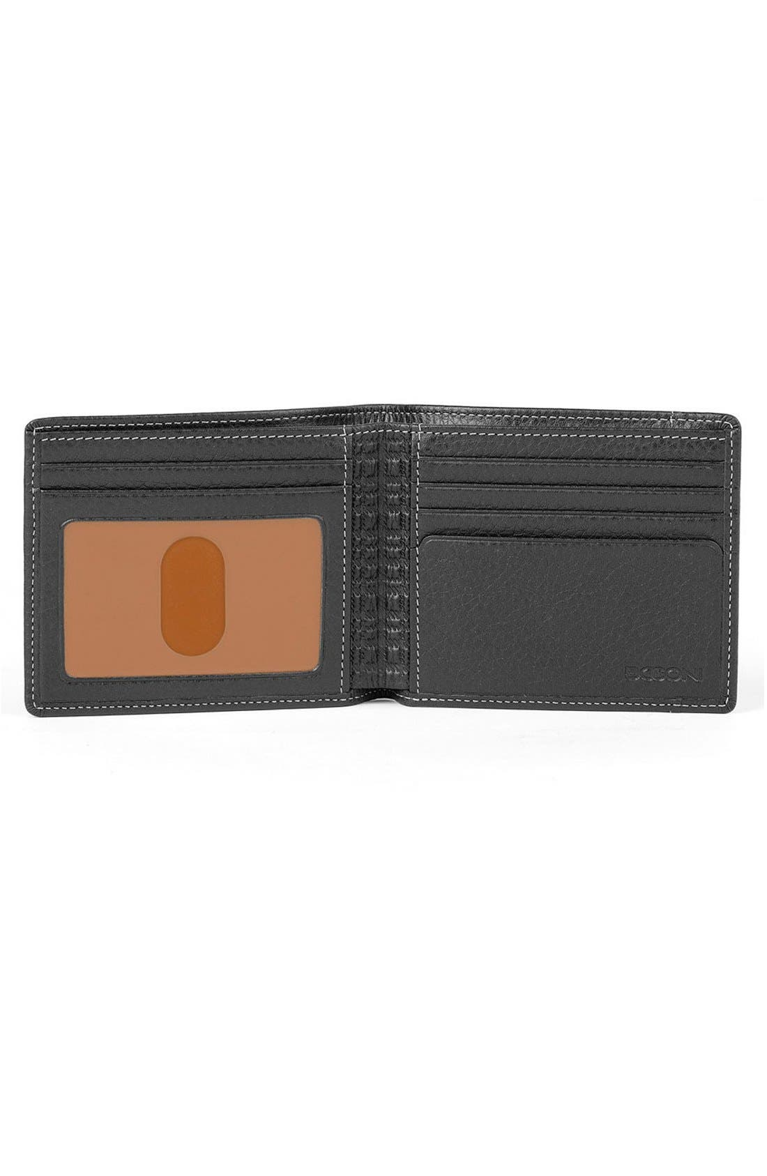 'Tyler' RFID Wallet,                             Alternate thumbnail 2, color,                             BLACK