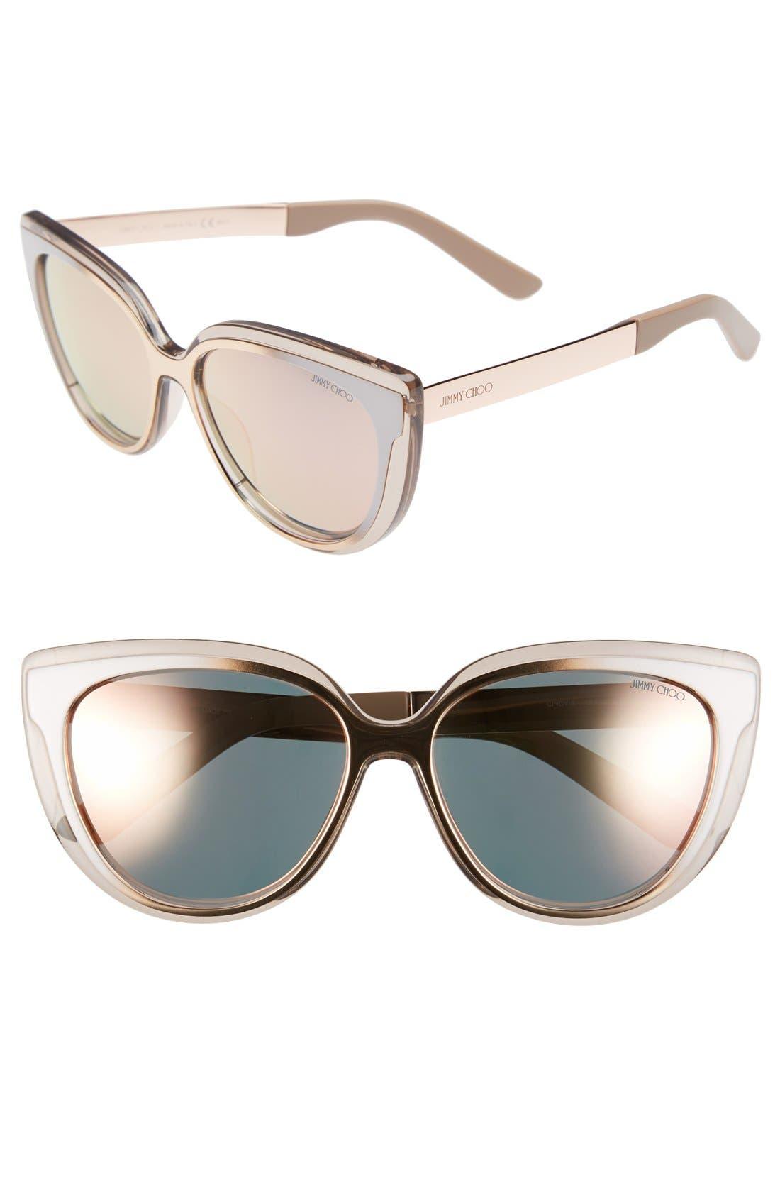 'Cindy' 57mm Retro Sunglasses,                             Main thumbnail 3, color,