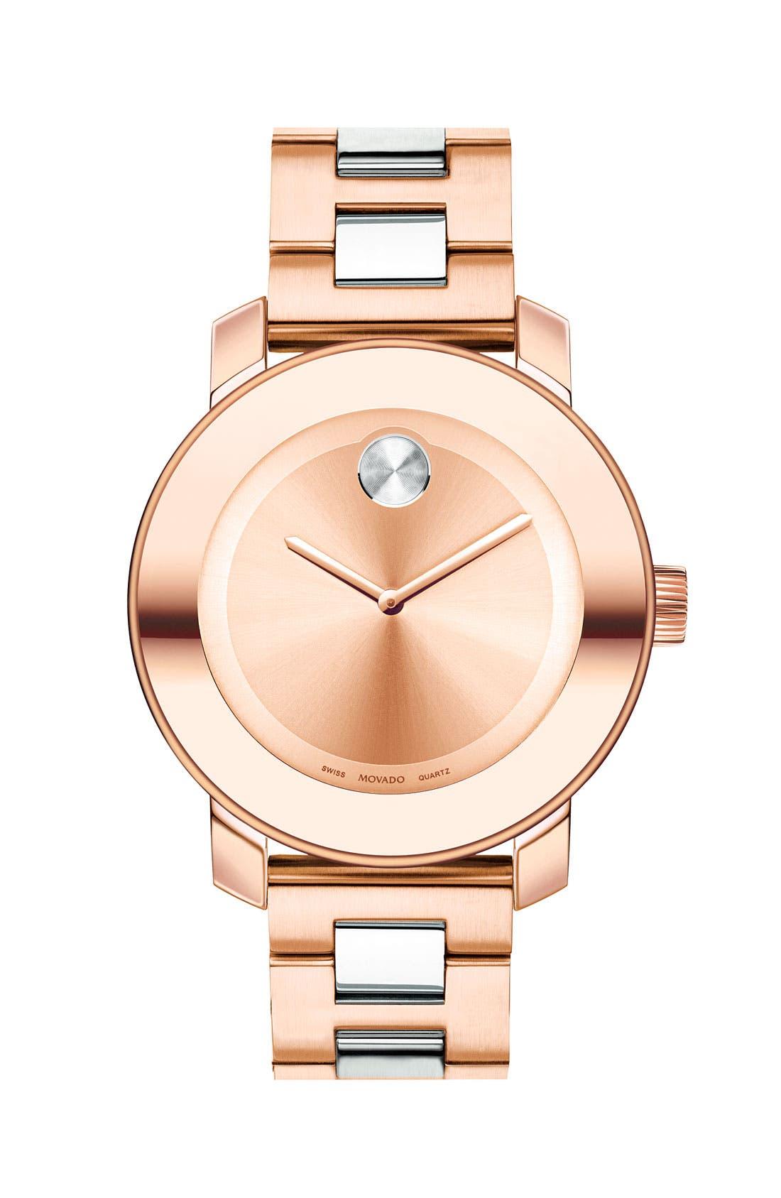 'Bold' Round Bracelet Watch, 36mm,                             Main thumbnail 5, color,