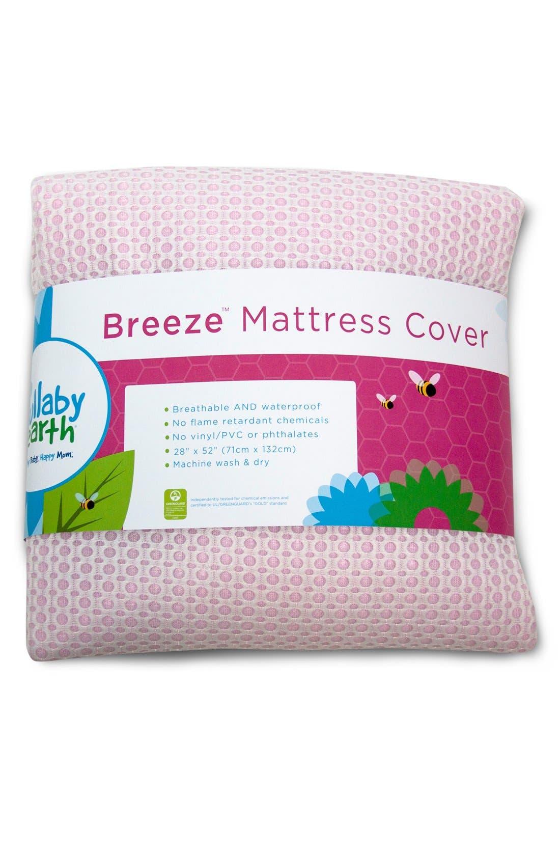 'Breeze' Waterproof Crib Mattress Cover,                             Main thumbnail 5, color,