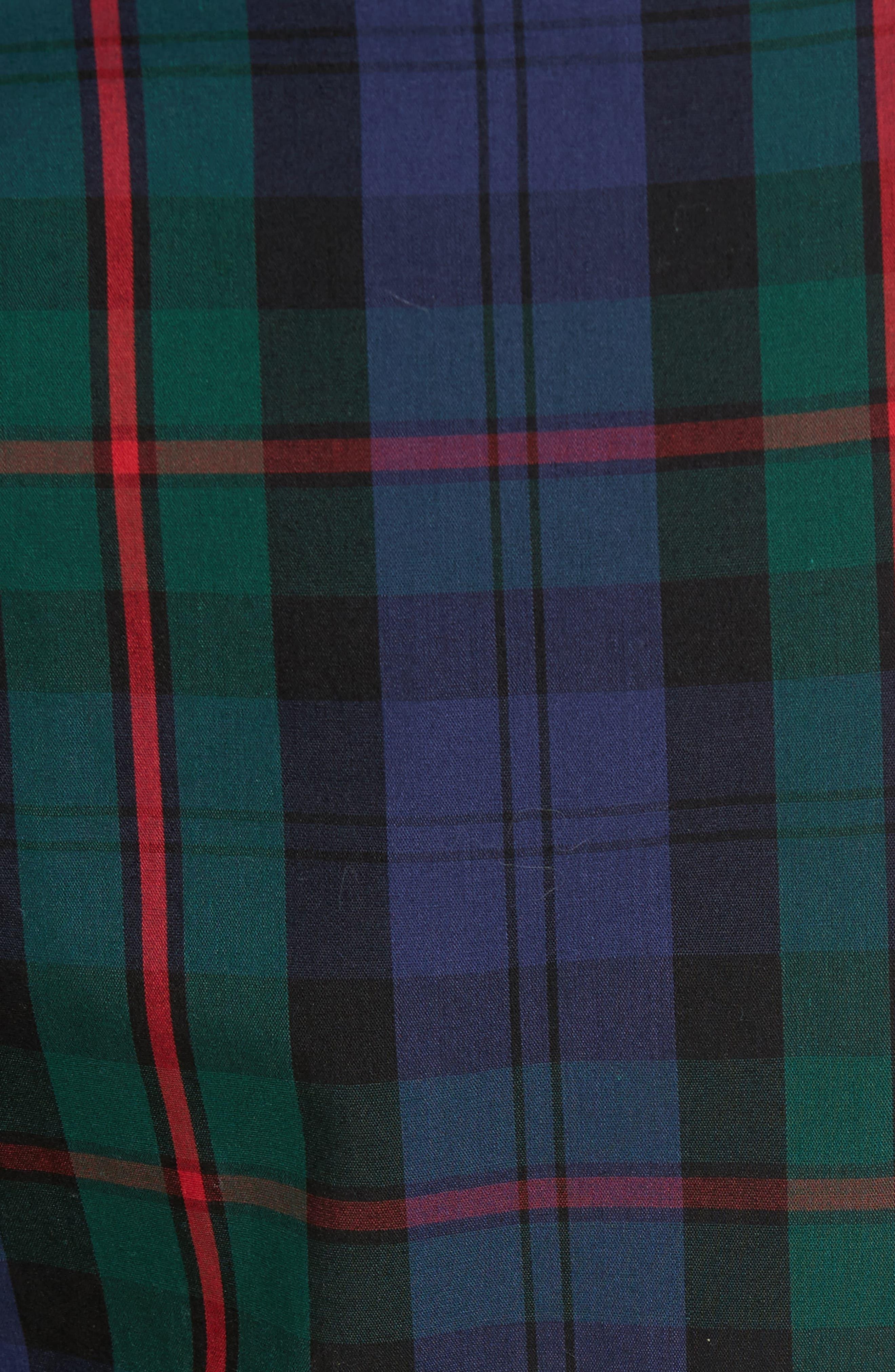 Plaid Cotton Lounge Pants,                             Alternate thumbnail 5, color,                             409