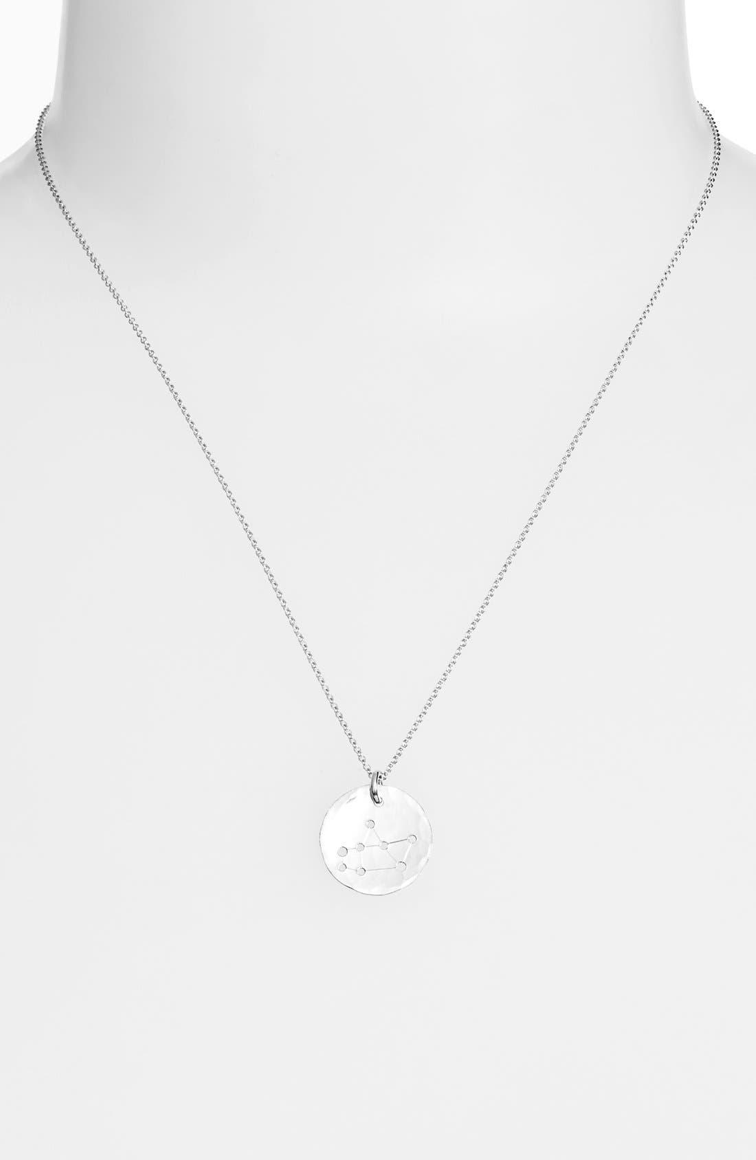 Ija 'Small Zodiac' Sterling Silver Necklace,                             Main thumbnail 9, color,