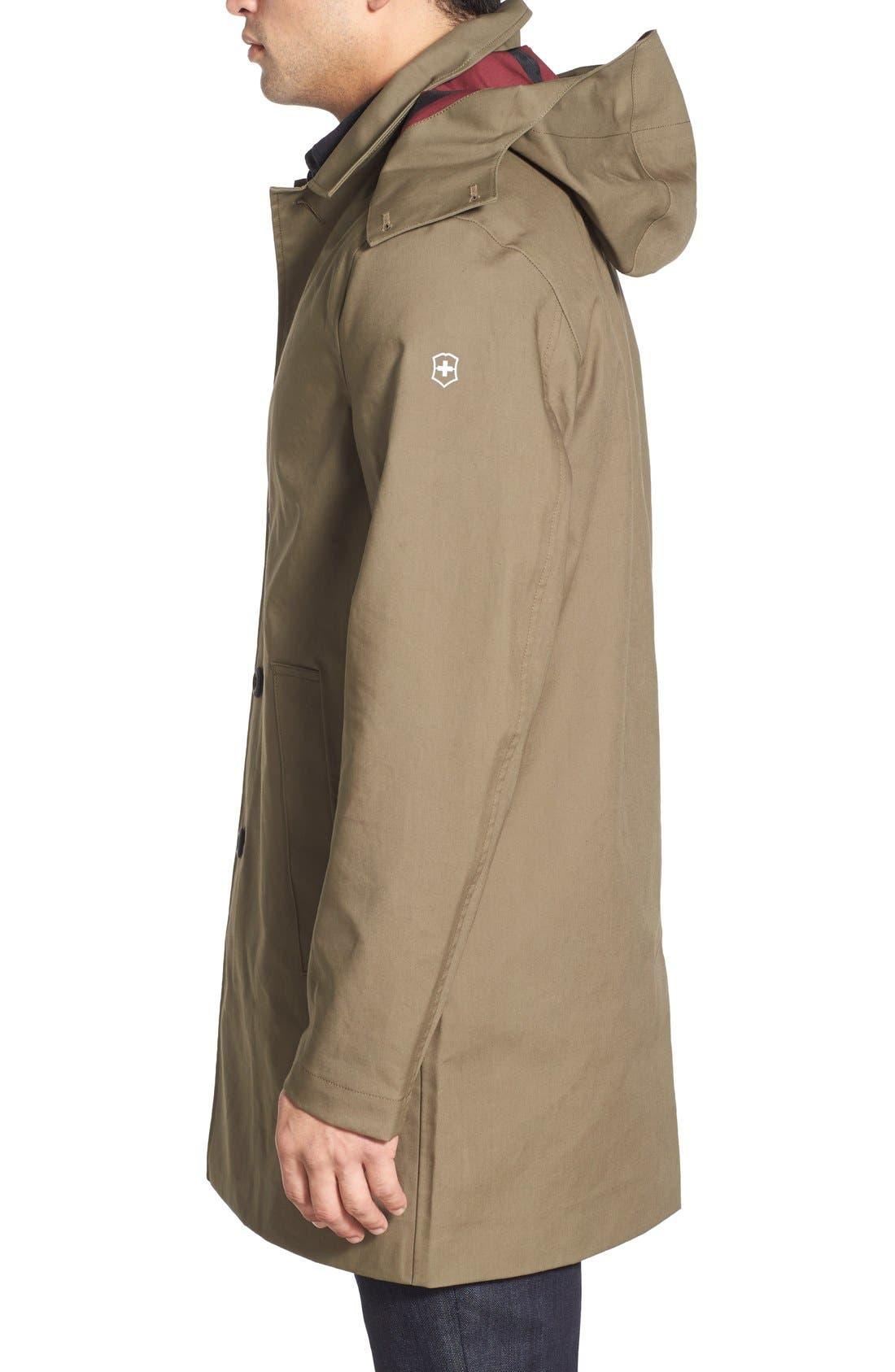 VICTORINOX SWISS ARMY<SUP>®</SUP>,                             'Lenzburg' Longline Waterproof Jacket,                             Alternate thumbnail 2, color,                             961