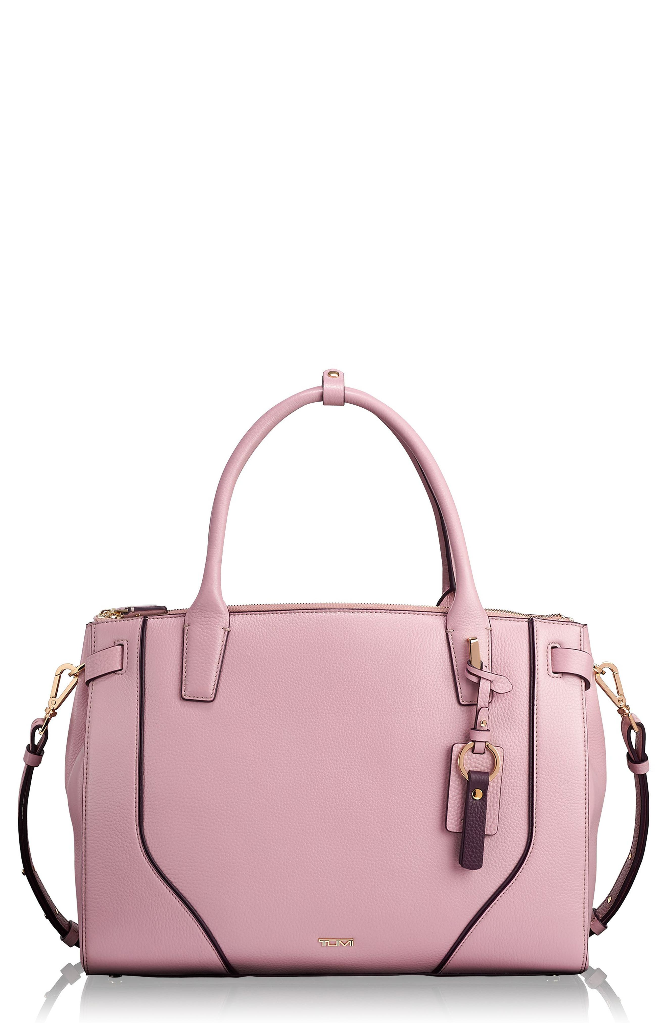 Stanton Kiran Leather Laptop Briefcase,                         Main,                         color, PINK
