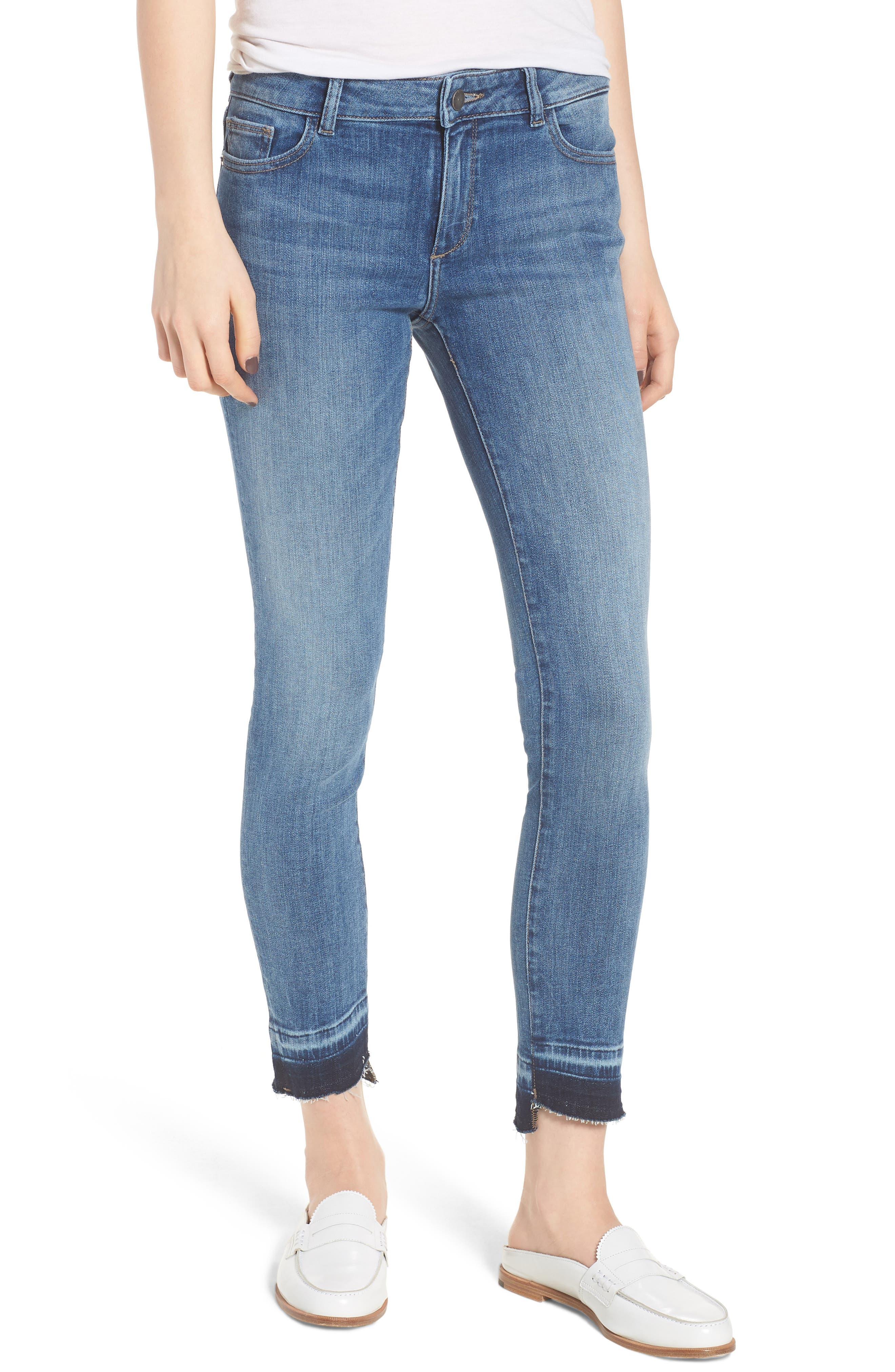 Margaux Instasculpt Ankle Skinny Jeans,                             Main thumbnail 1, color,                             COSTA MESA