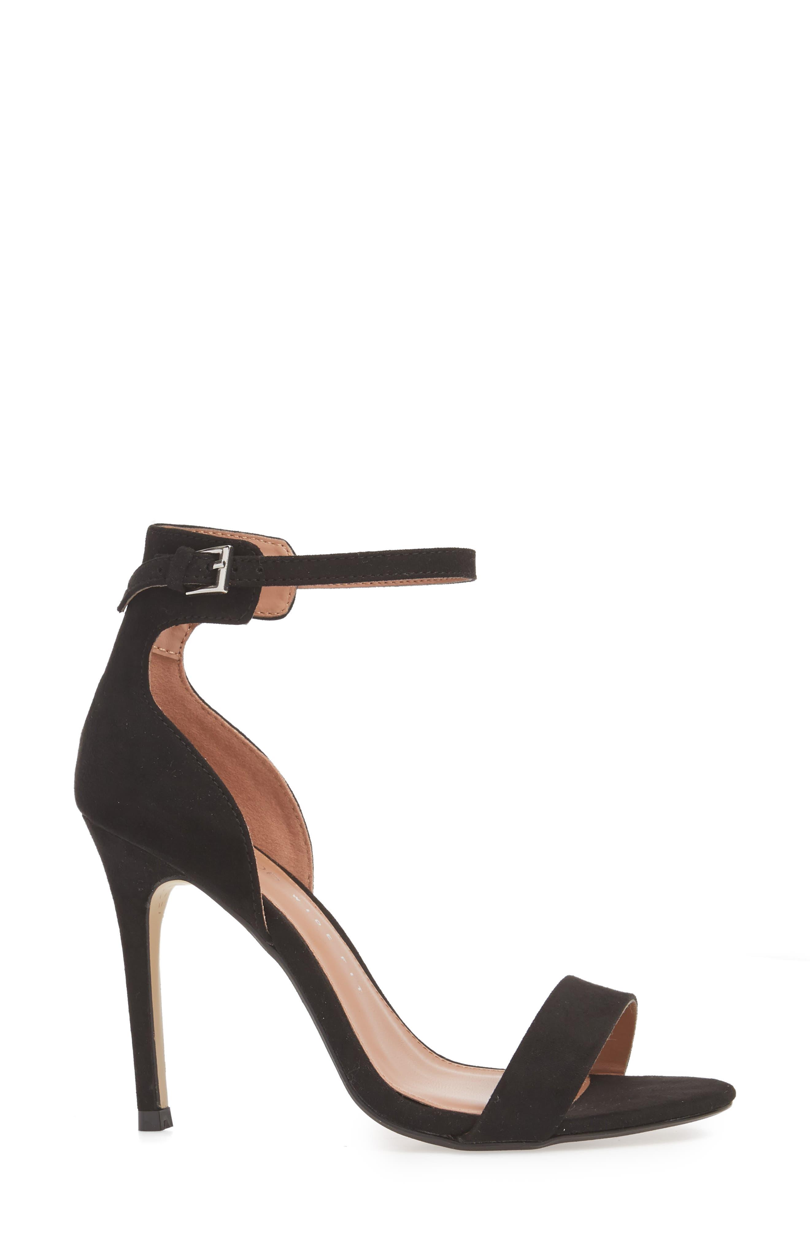 Marcelle Ankle Strap Sandal,                             Alternate thumbnail 3, color,                             BLACK