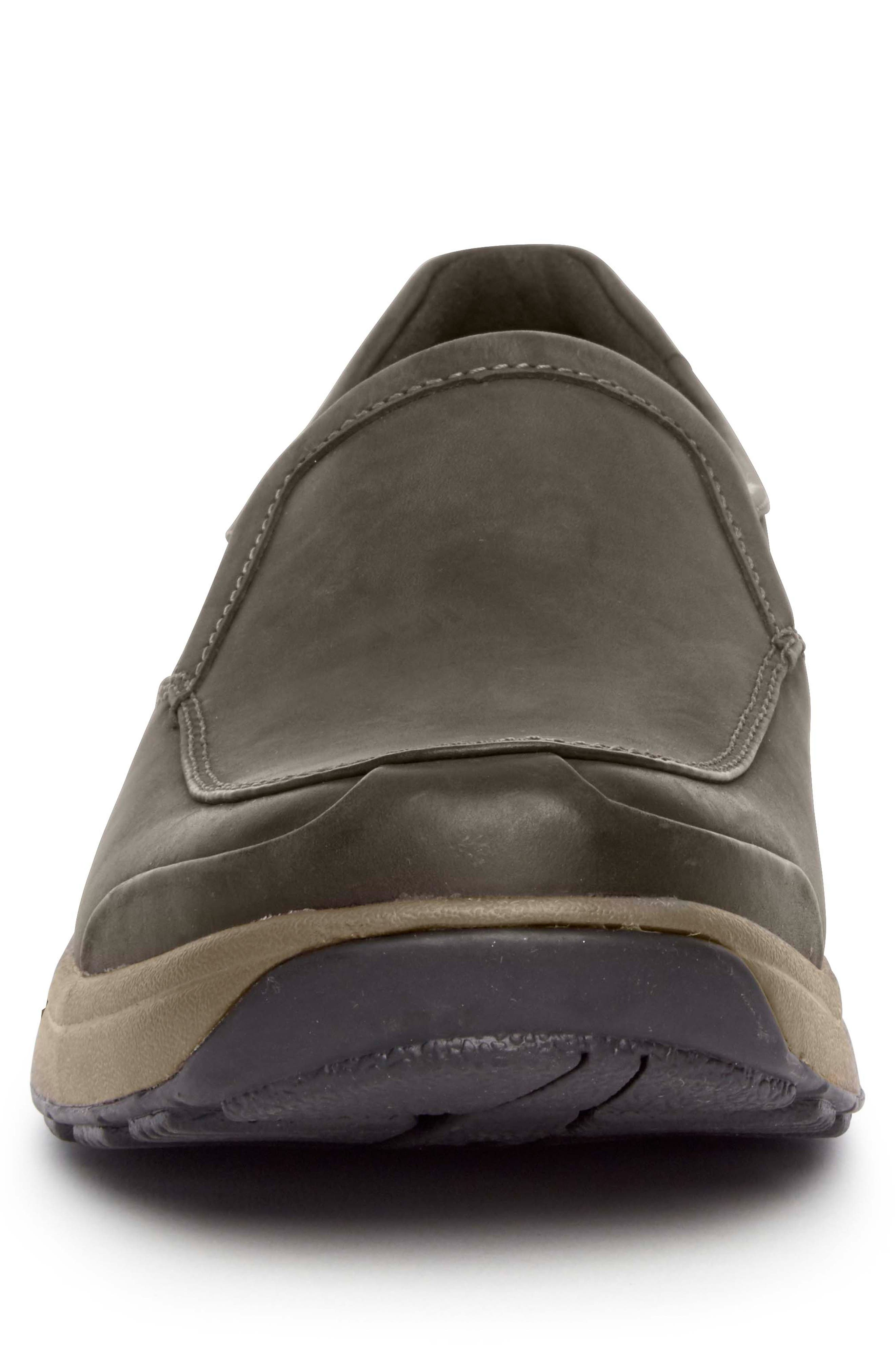 Battery Park Waterproof Slip-On,                             Alternate thumbnail 4, color,                             BROWN LEATHER