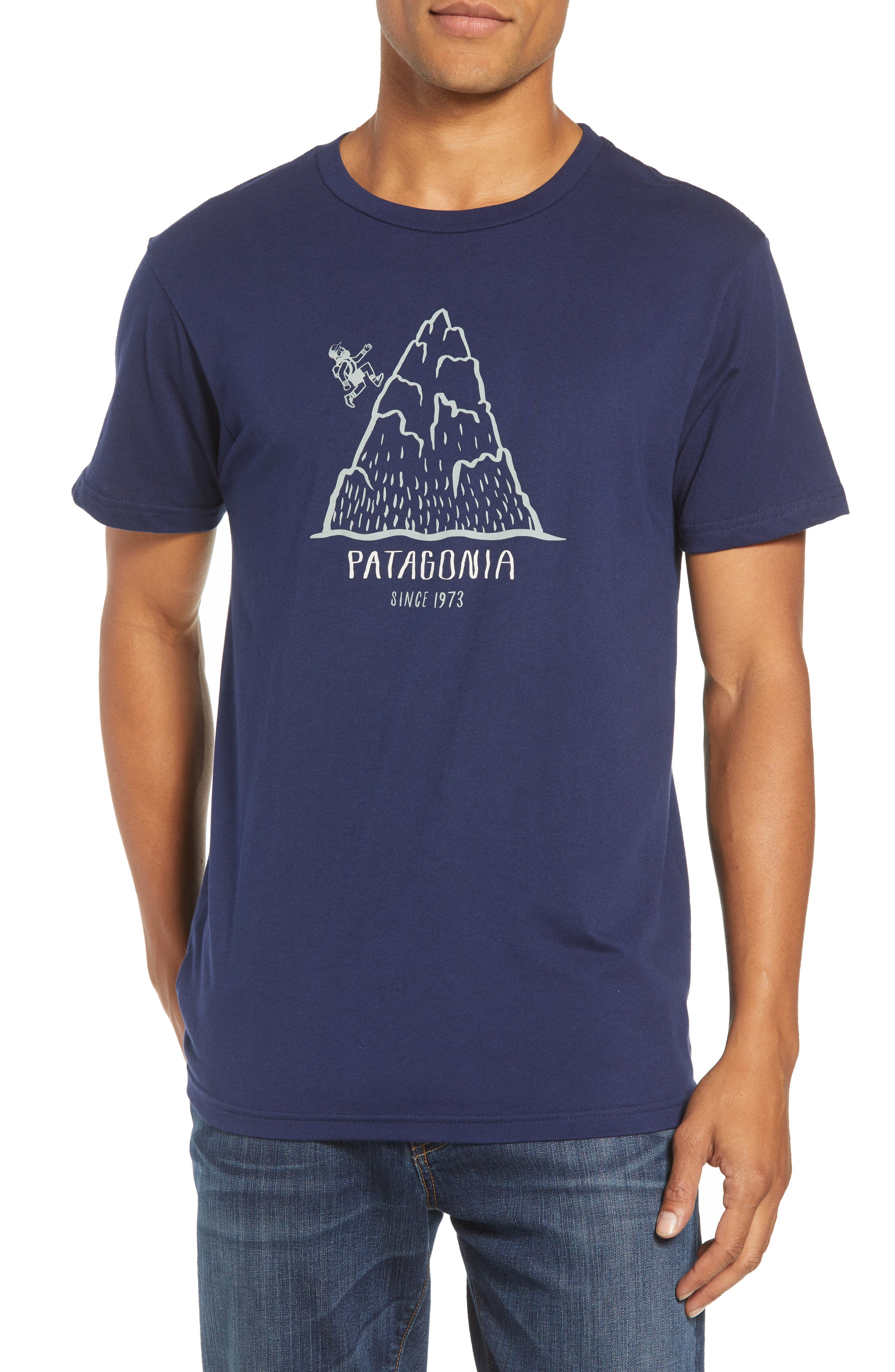Hoofin It Organic Cotton Graphic T-Shirt,                             Main thumbnail 1, color,                             CLASSIC NAVY