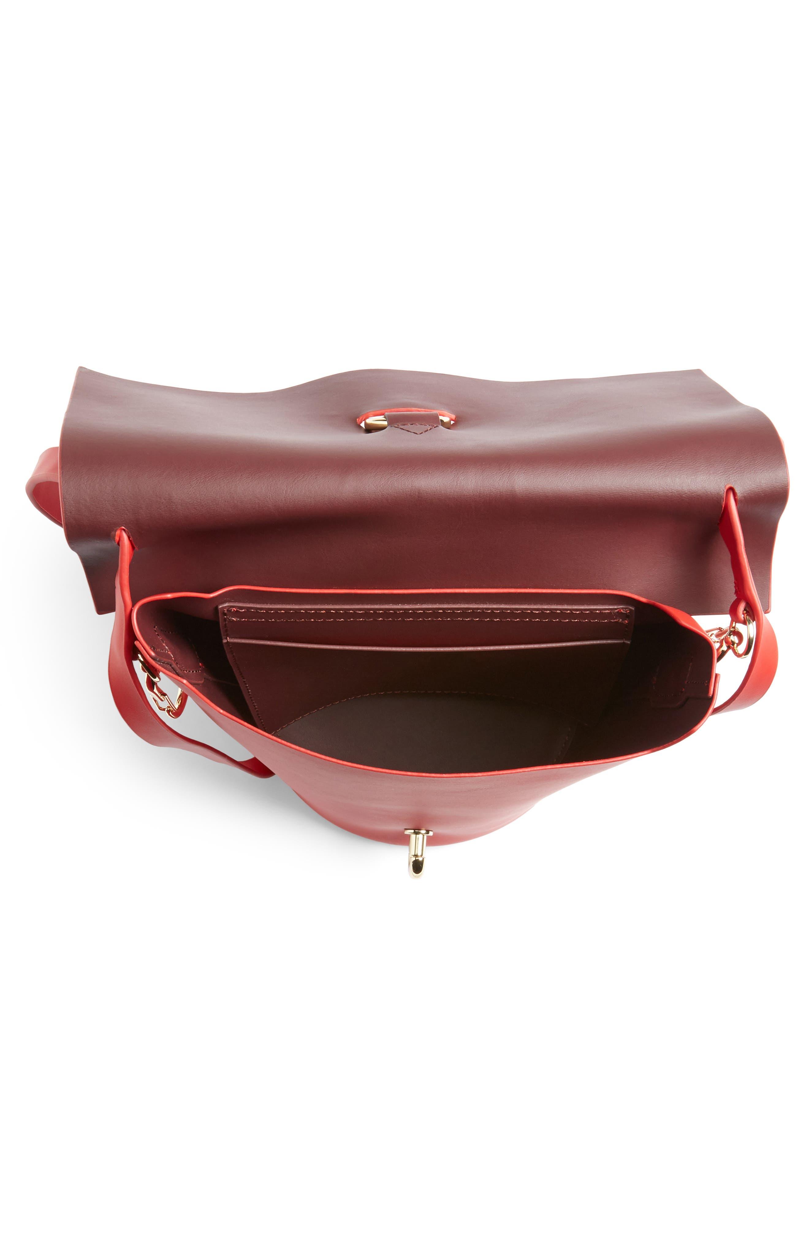 Belay Leather Crossbody Bucket Bag,                             Alternate thumbnail 4, color,                             620