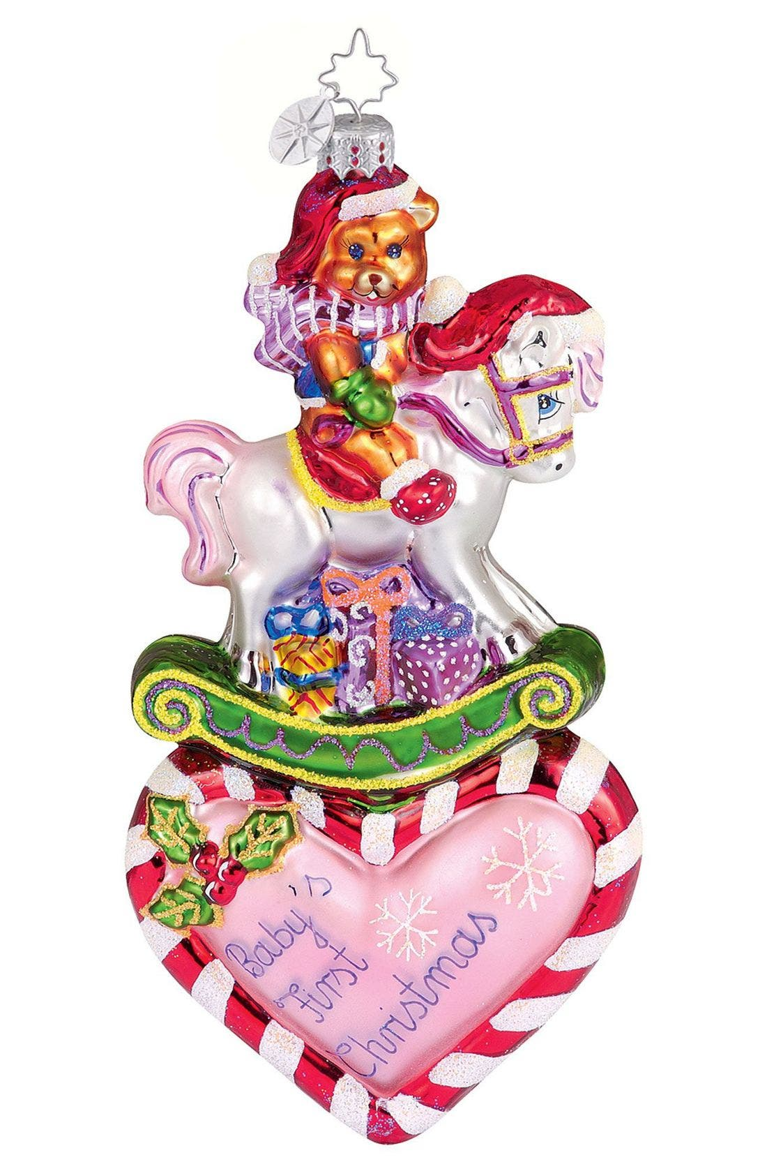 'Baby's First Christmas' Ornament, Main, color, MUL