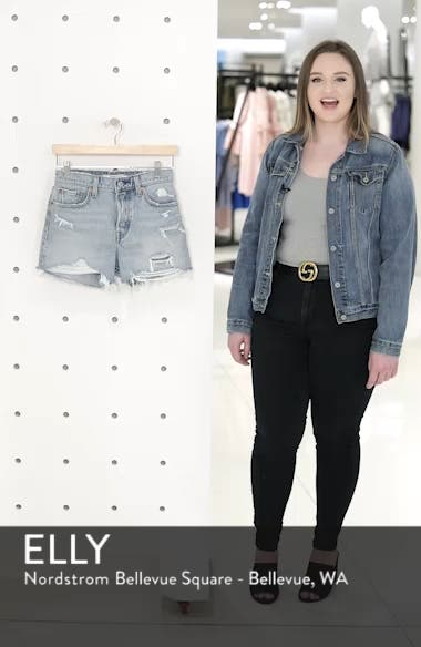 Wedgie Update High Waist Cutoff Denim Shorts, sales video thumbnail