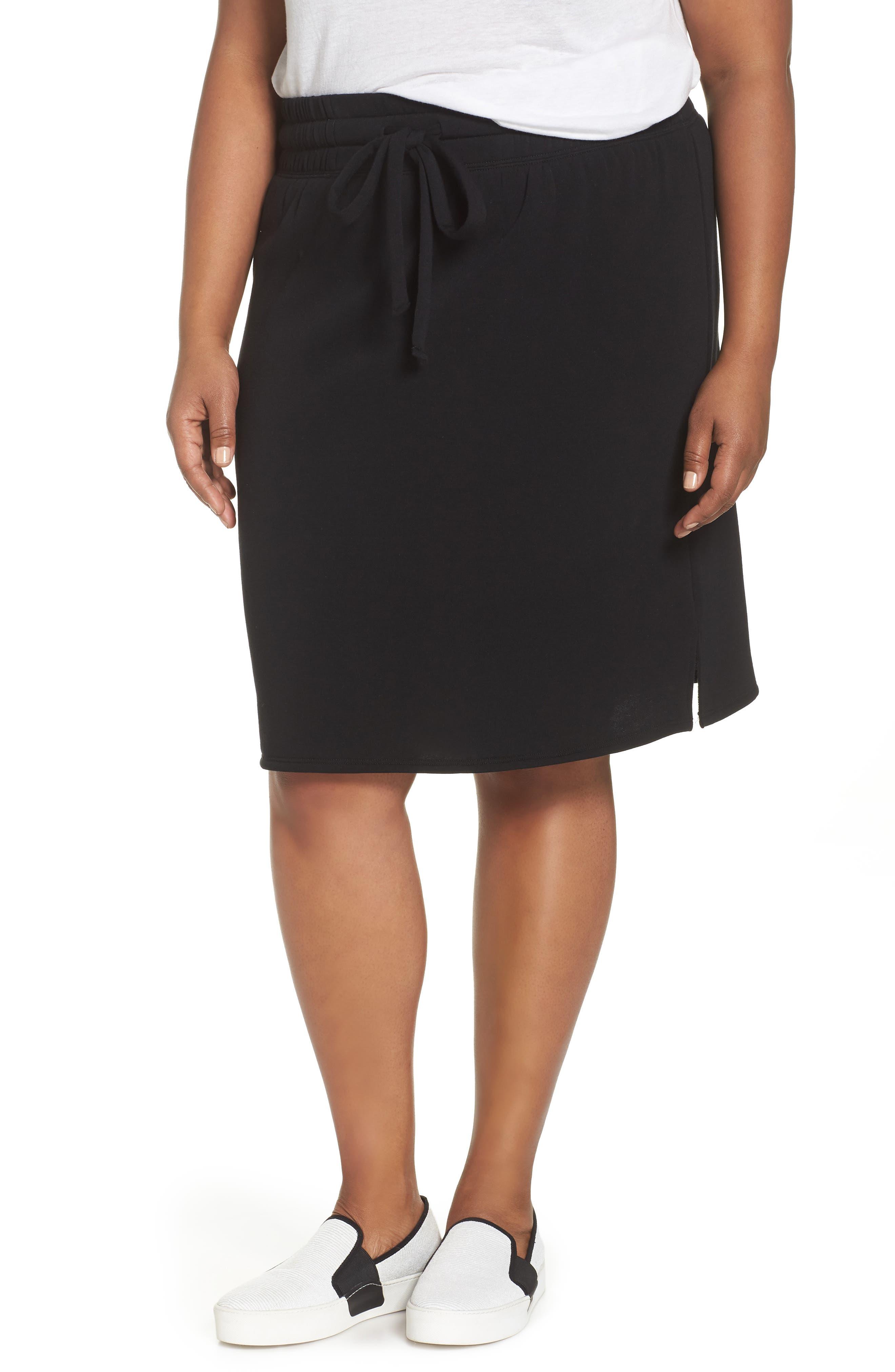 Off-Duty Tie Waist Miniskirt,                             Main thumbnail 1, color,                             001