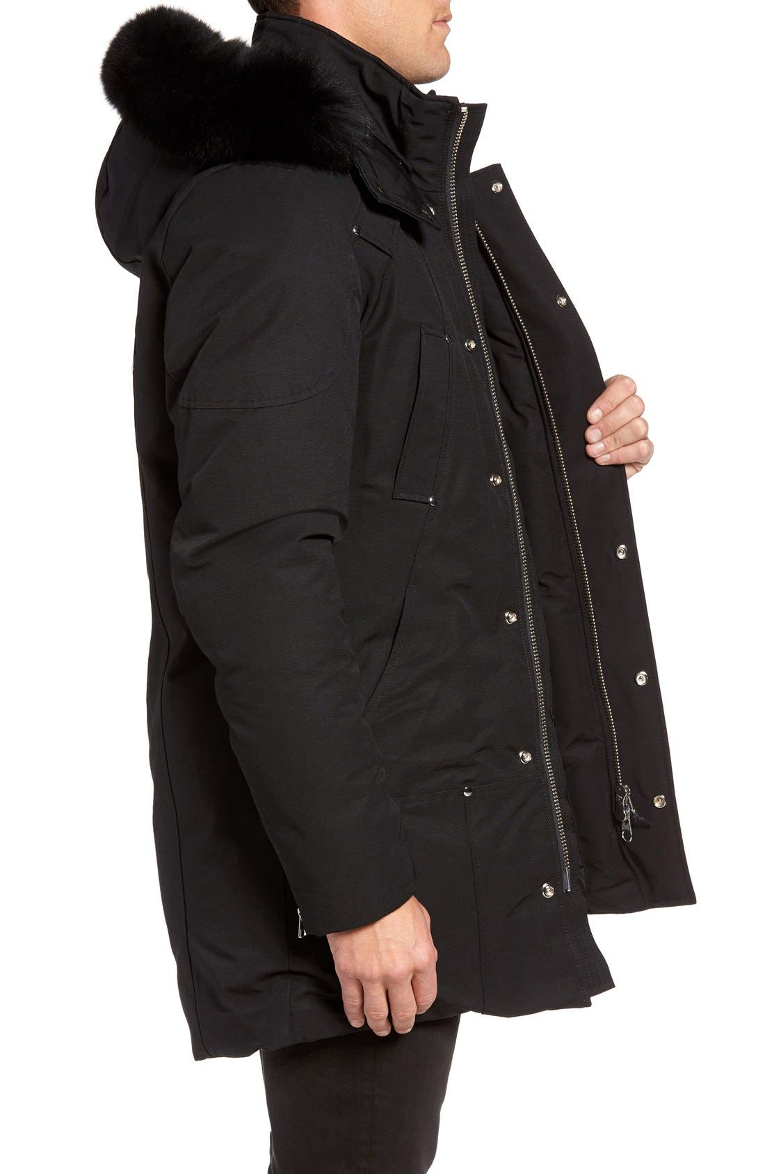 Stirling Water Repellent Down Parka with Genuine Fox Fur Trim,                             Alternate thumbnail 8, color,