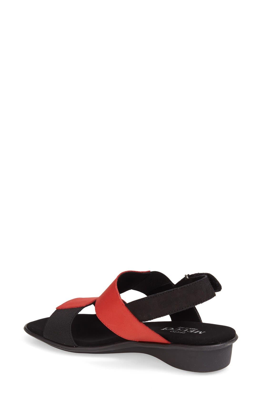 'Eudore' Slingback Sandal,                             Alternate thumbnail 2, color,                             RED NUBUCK