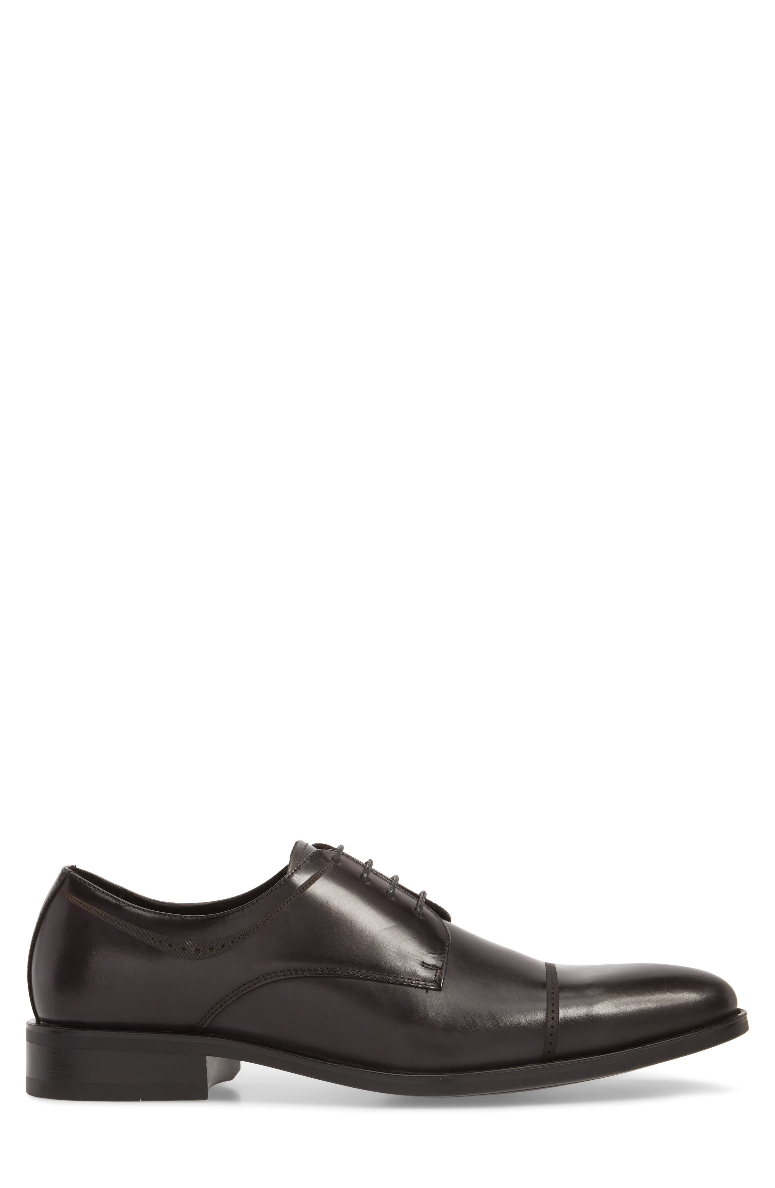 Leisure Time Cap Toe Derby,                             Alternate thumbnail 3, color,                             DARK GREY LEATHER