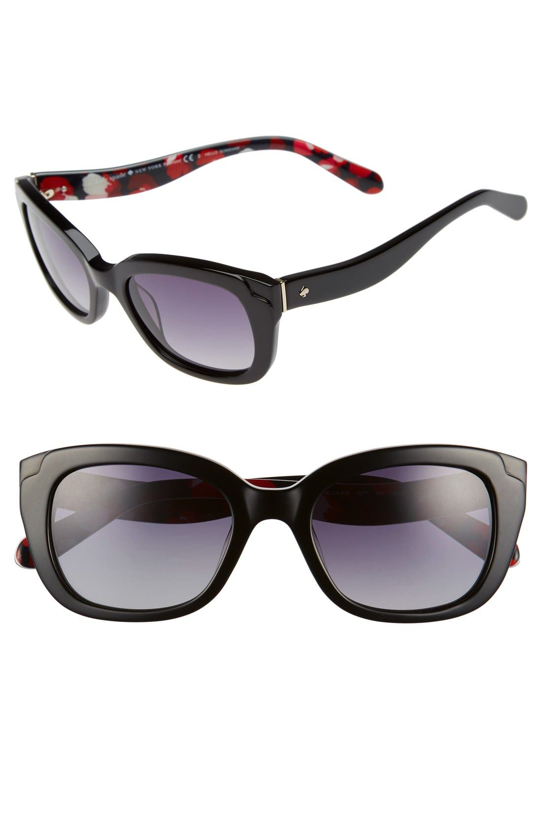 'danella' 50mm sunglasses,                             Main thumbnail 1, color,                             001