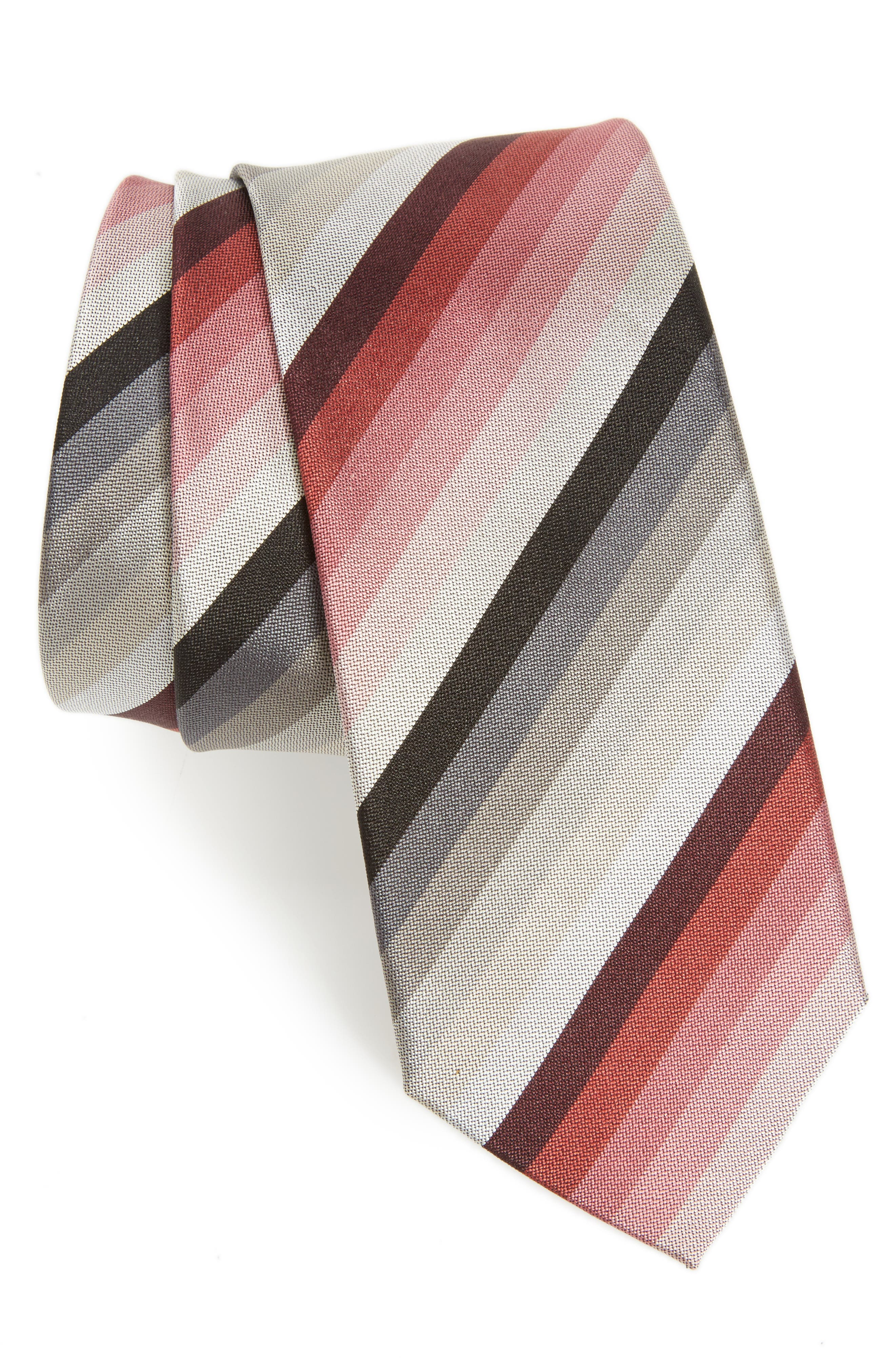 Multistripe Silk Skinny Tie,                         Main,                         color, 020
