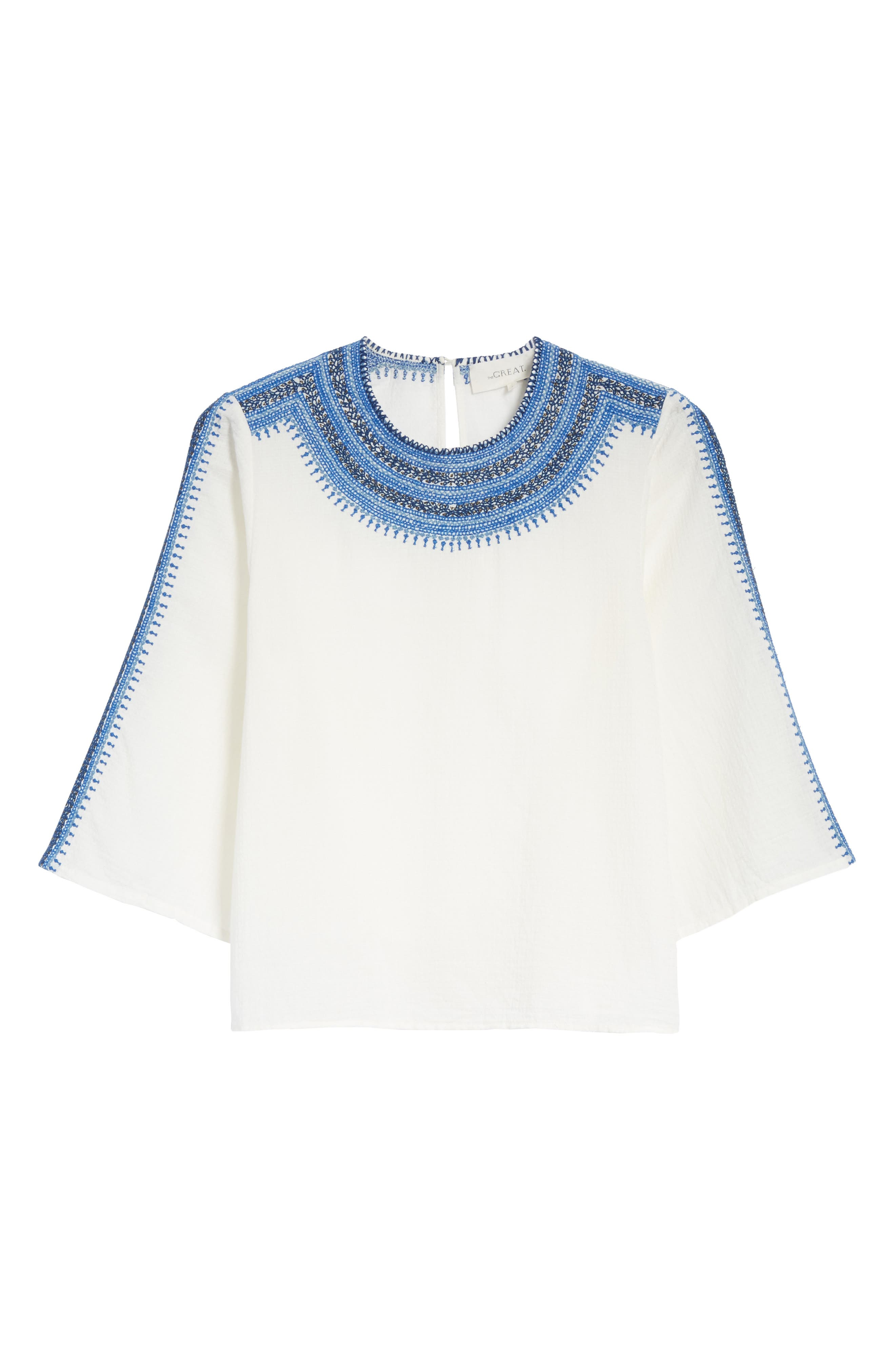The Oasis Embroidered Top,                             Alternate thumbnail 6, color,