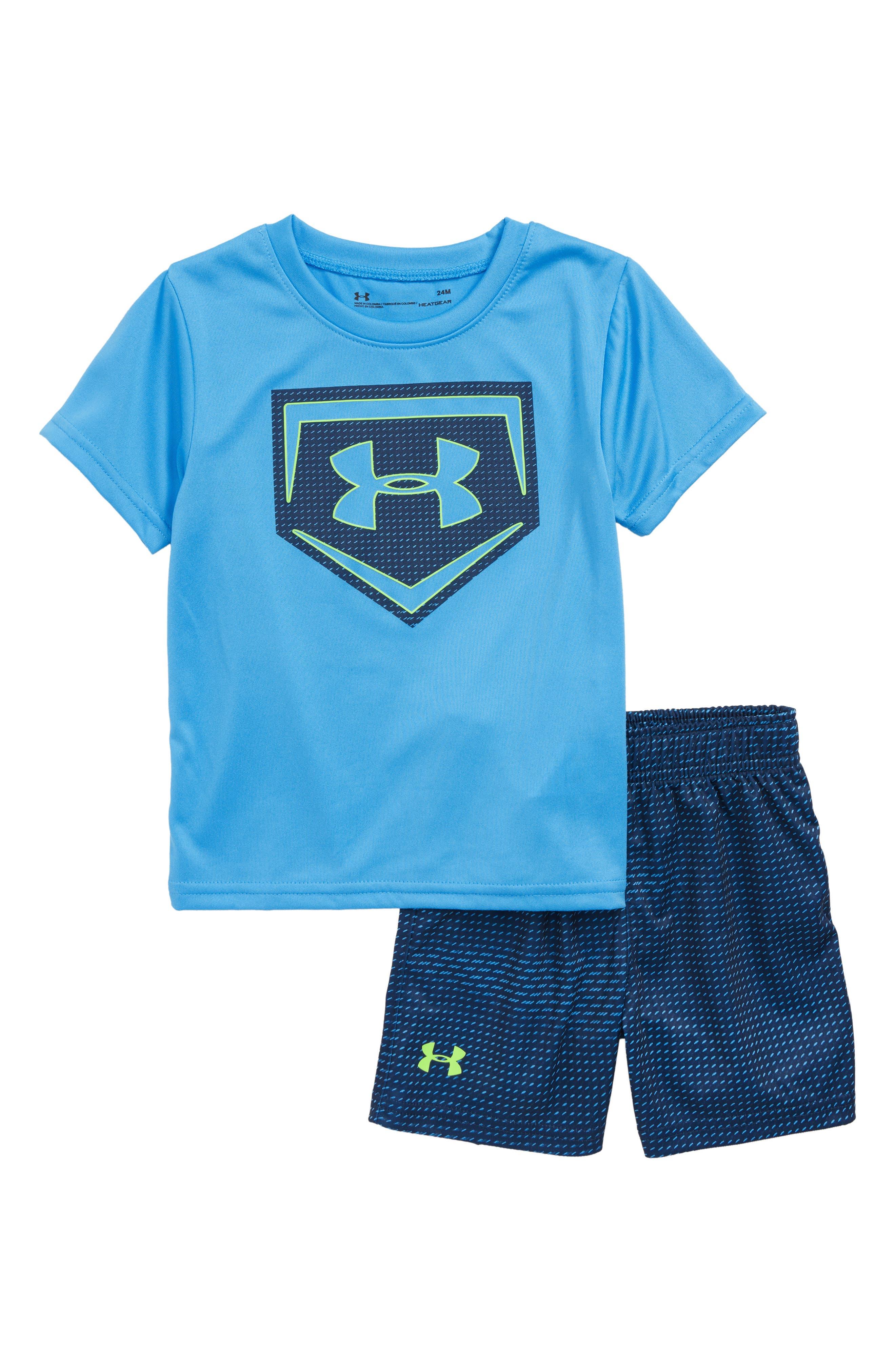 Sync Home Plate Logo Bodysuit & Shorts Set,                         Main,                         color,