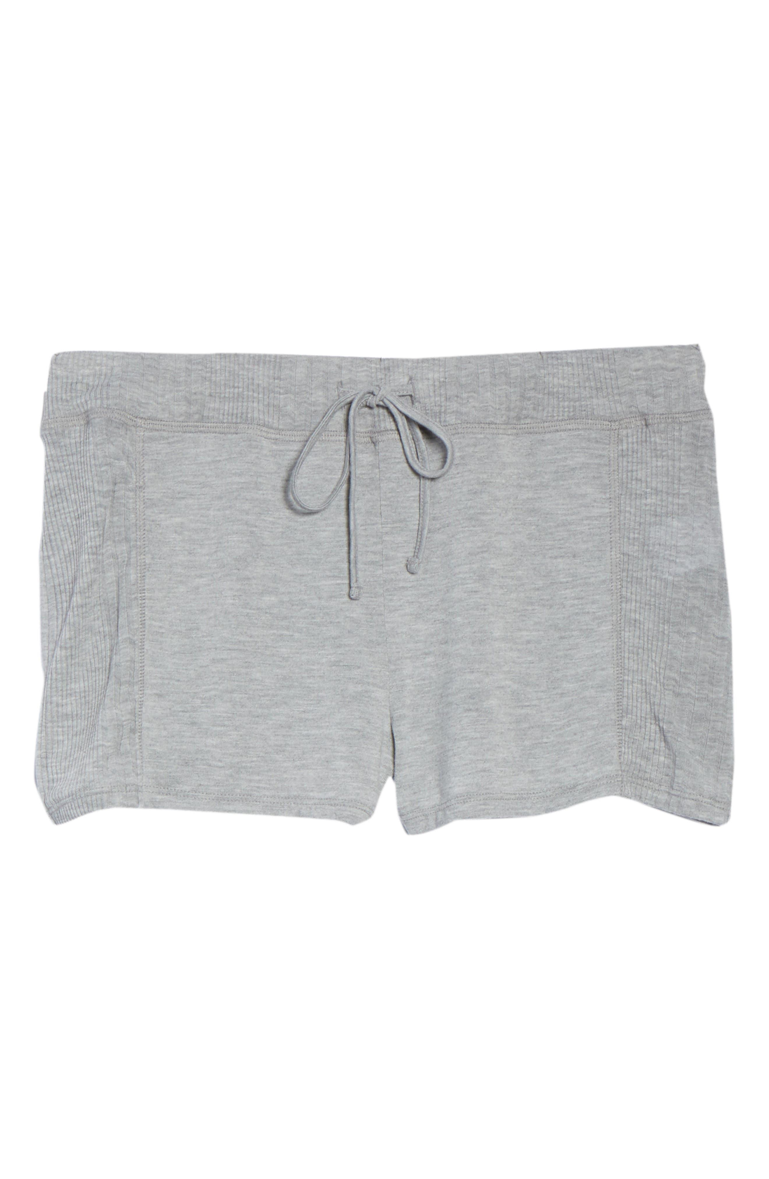Pajama Shorts,                             Alternate thumbnail 6, color,                             LIGHT HEATHER GREY