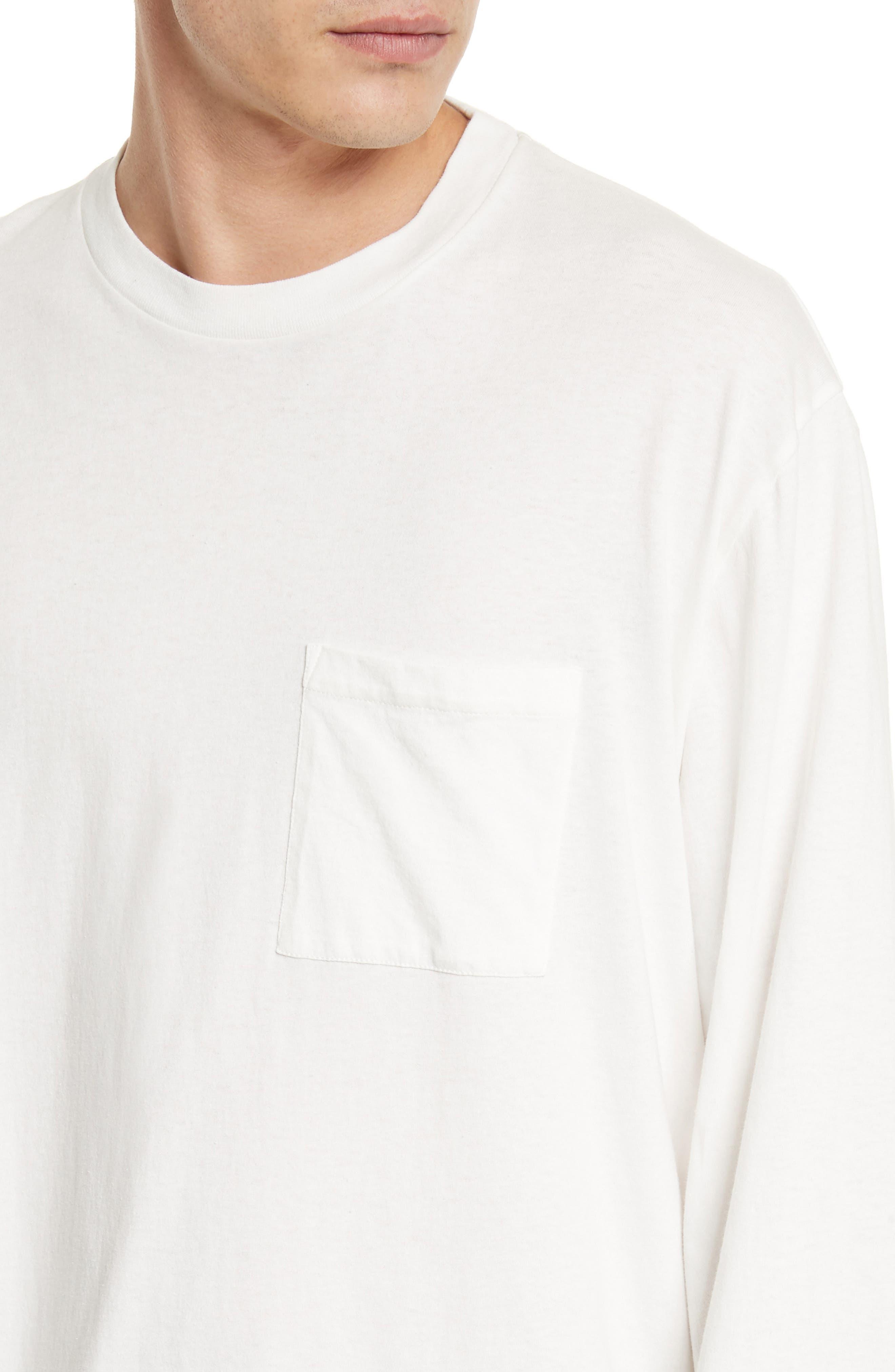 Box Fit Pocket T-Shirt,                             Alternate thumbnail 4, color,                             WHITE