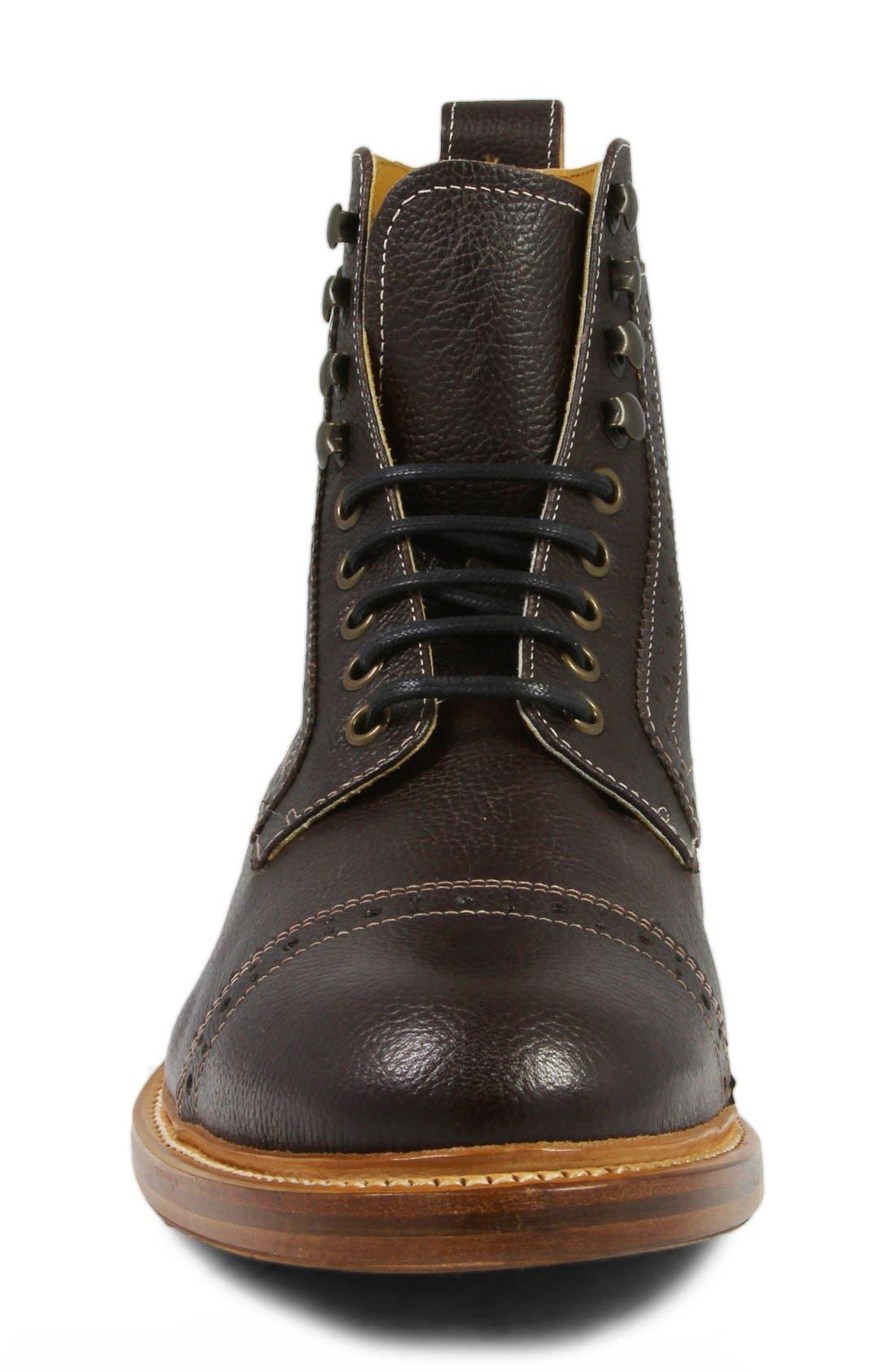 Madison II Cap Toe Boot,                             Alternate thumbnail 3, color,                             930