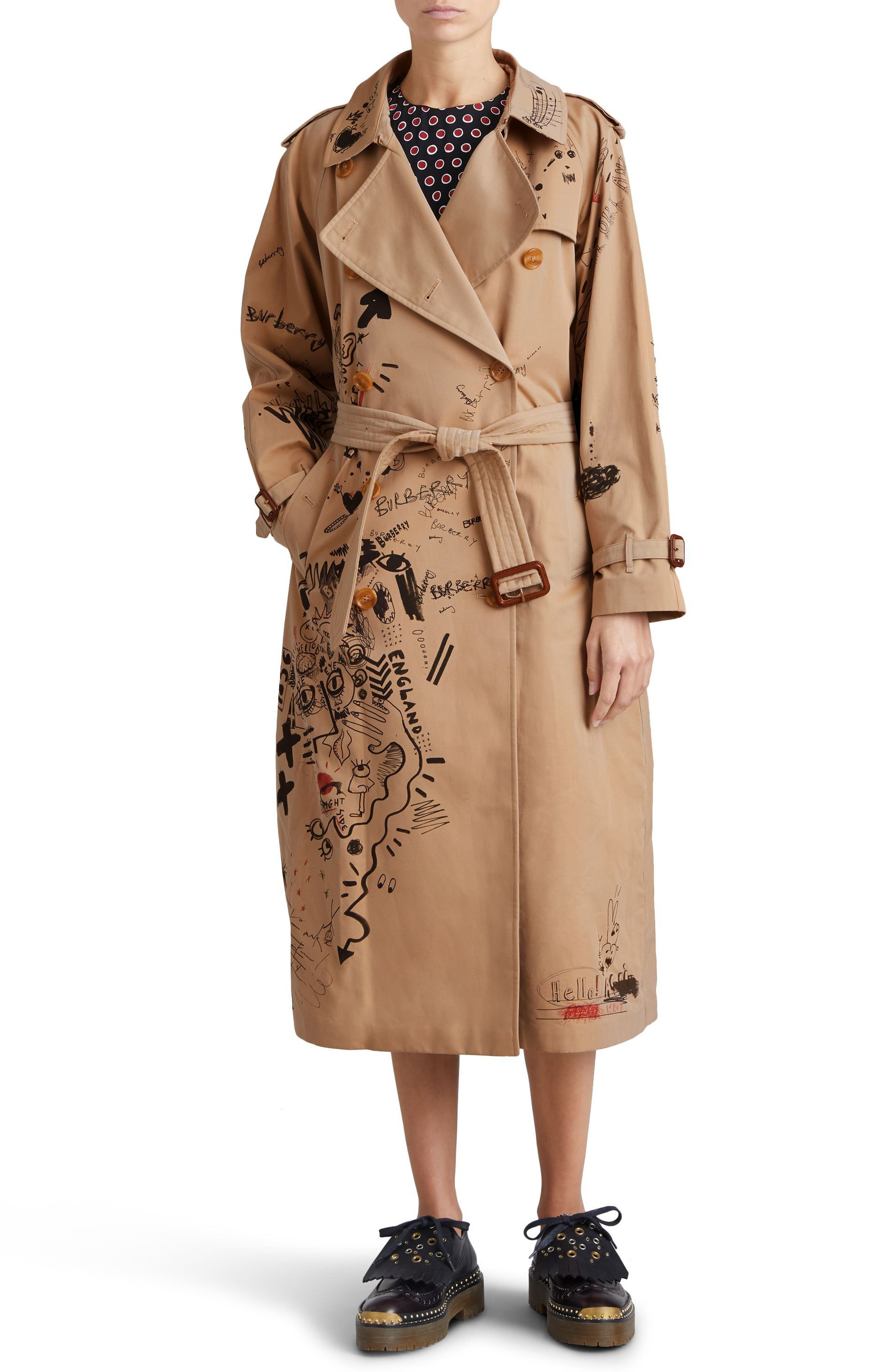 Eastheath Embellished Trench Coat,                             Alternate thumbnail 4, color,                             205