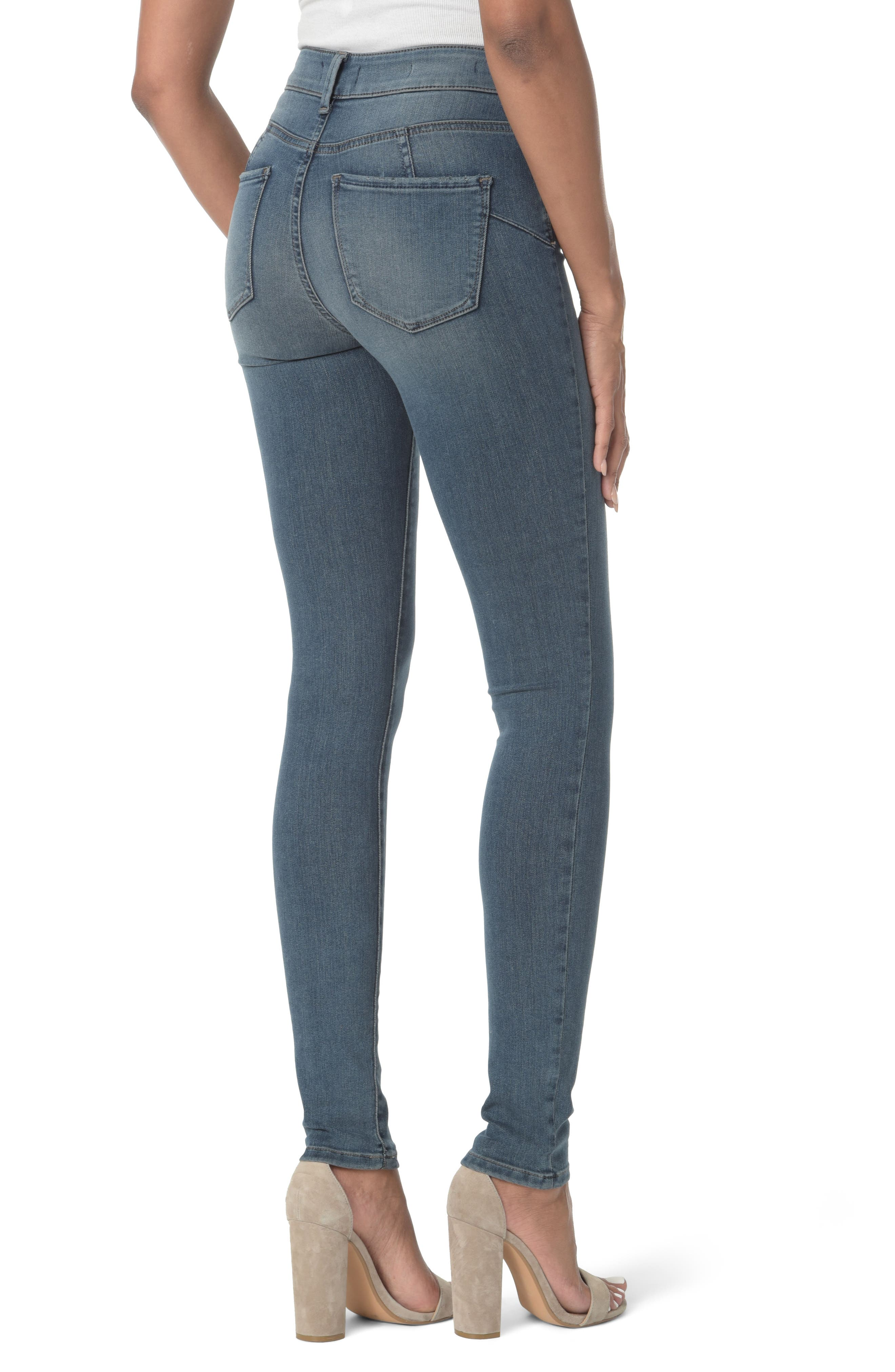 Alina Uplift Stretch Skinny Jeans,                             Alternate thumbnail 2, color,                             403