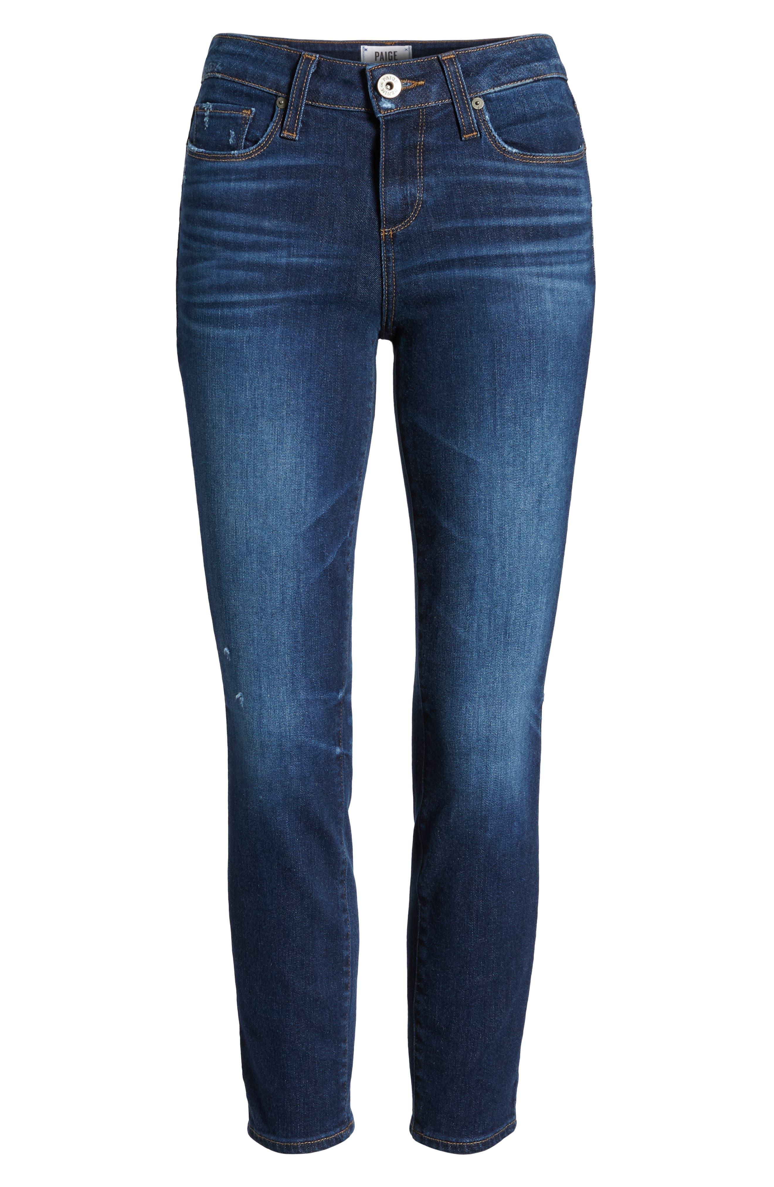 Verdugo Transcend Vintage Crop Skinny Jeans,                             Alternate thumbnail 7, color,                             400
