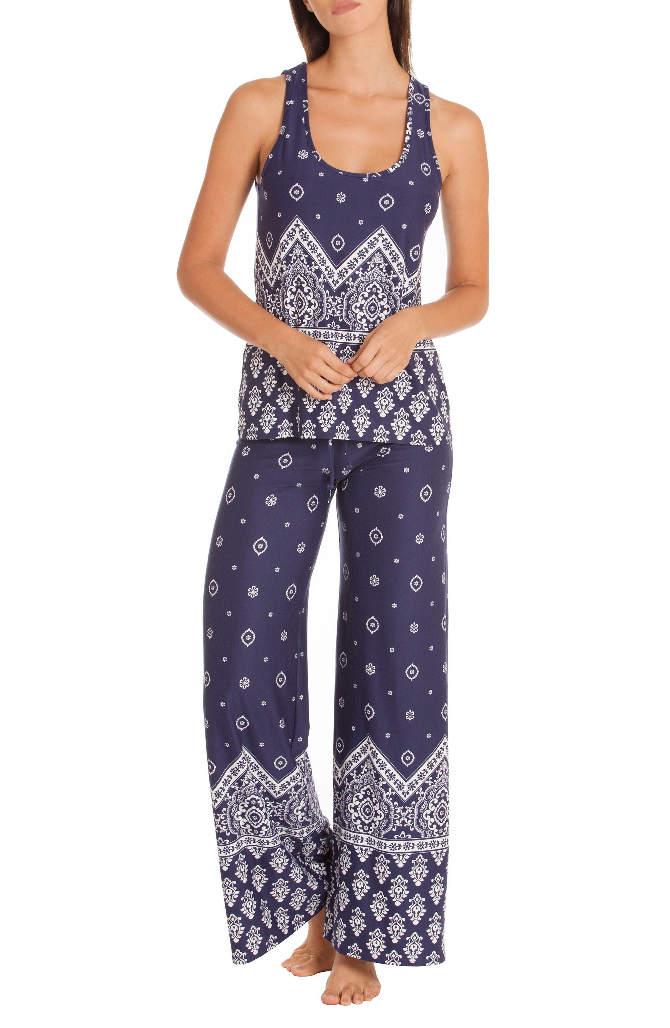 Print Pajamas,                             Main thumbnail 1, color,                             400