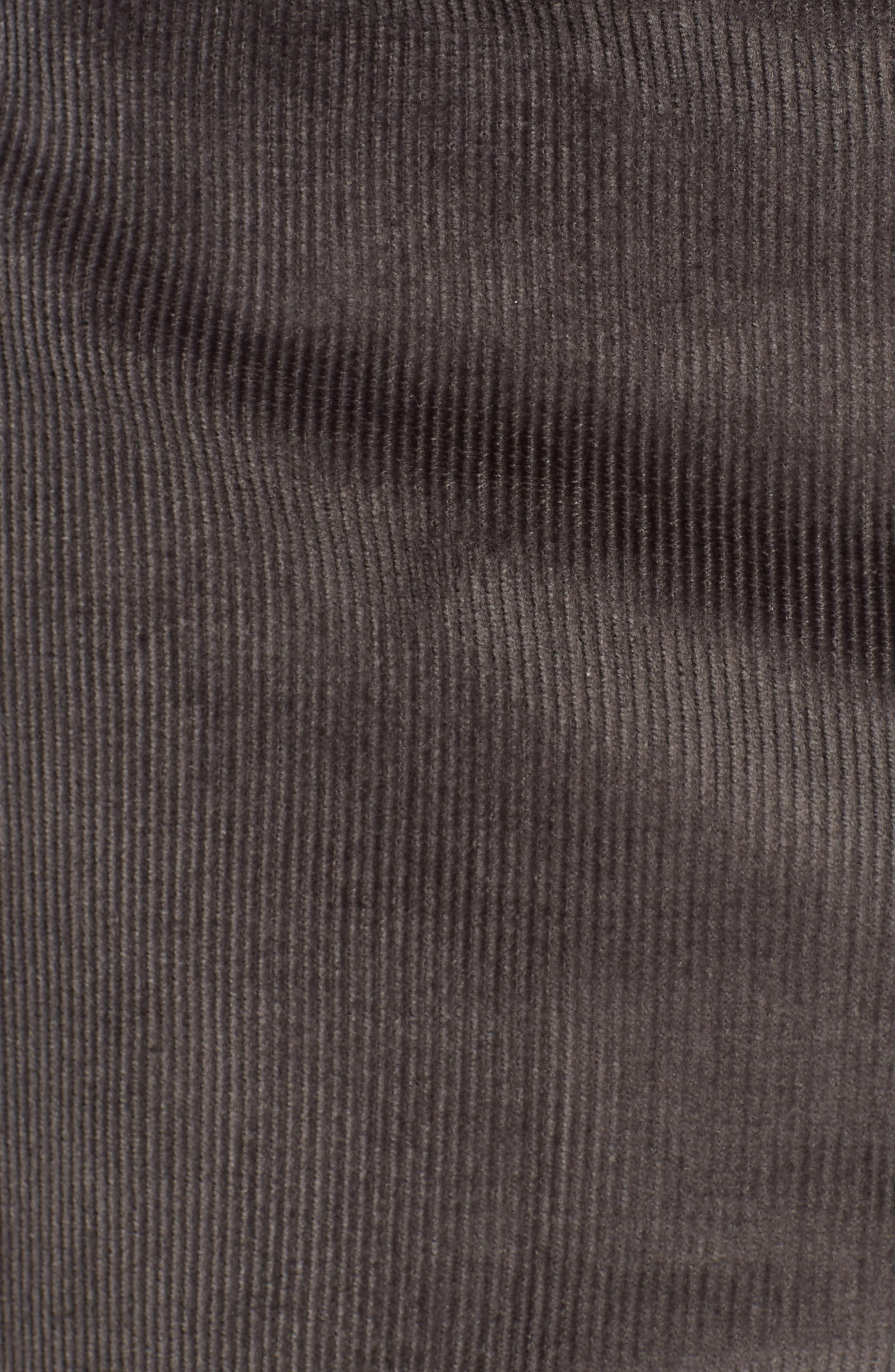 Torino Traditional Fit Flat Front Corduroy Trousers,                             Alternate thumbnail 5, color,                             GREY