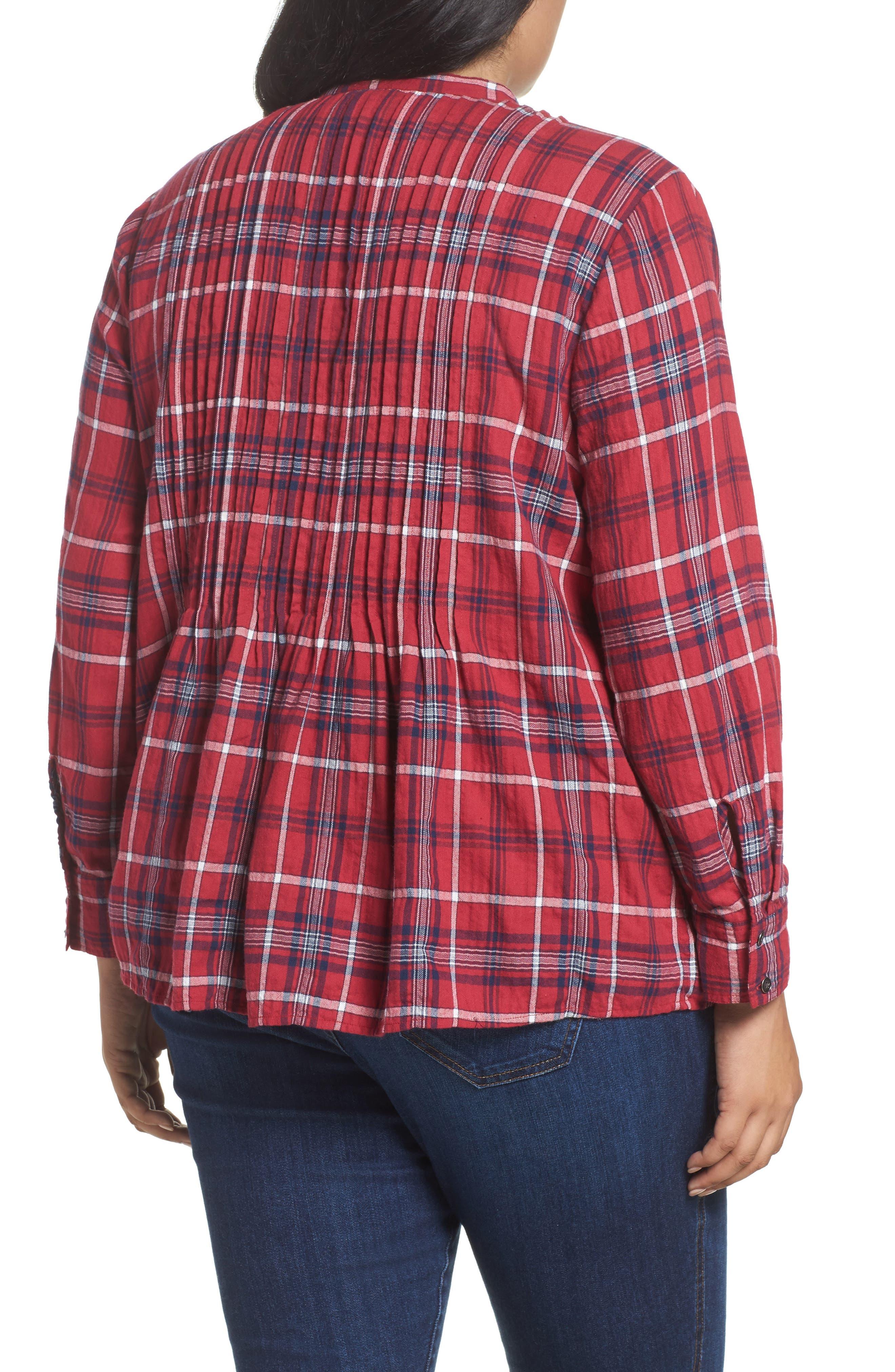 Pintuck Pleat Blouse,                             Alternate thumbnail 4, color,