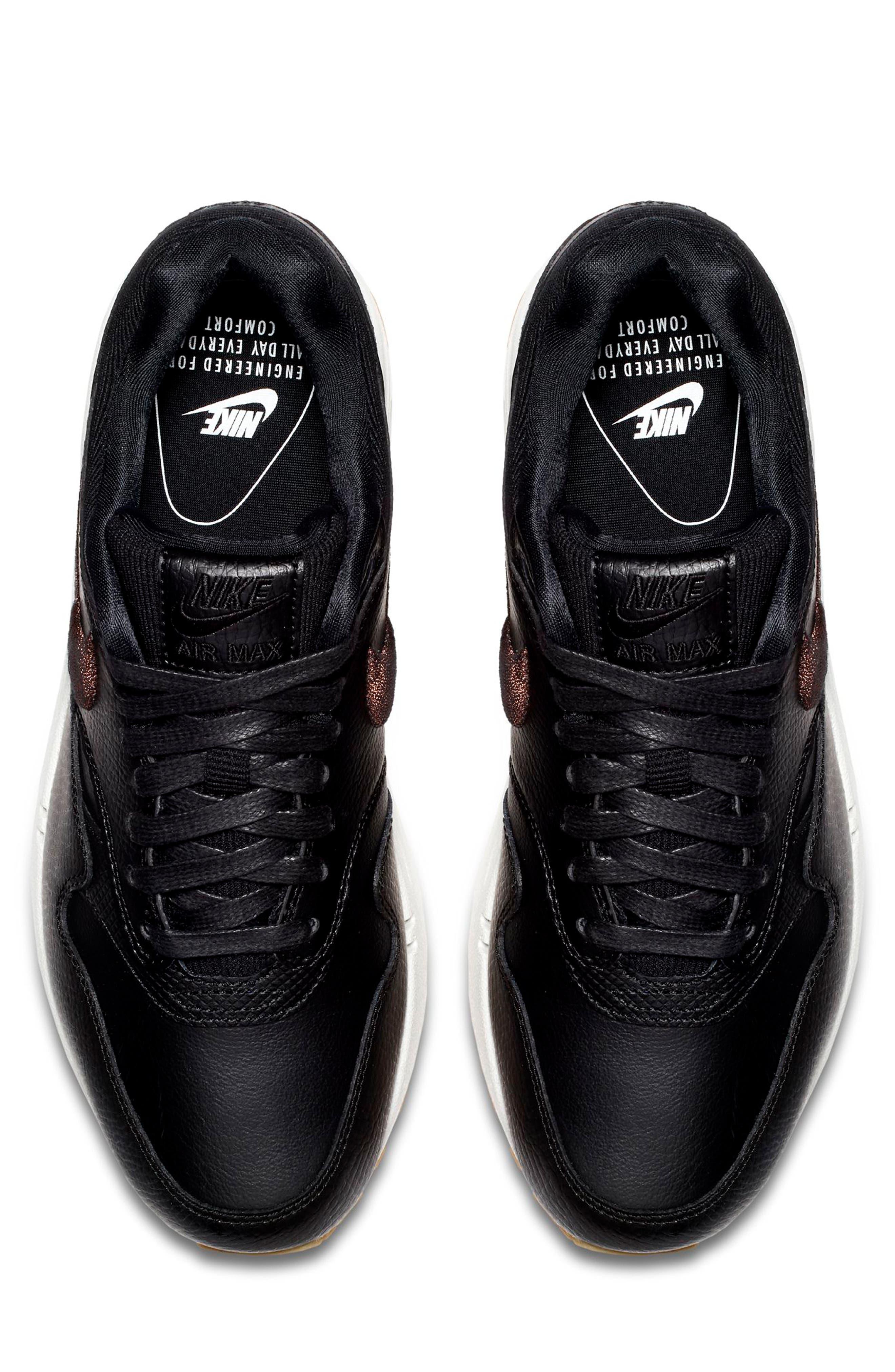 Air Max 1 Premium Sneaker,                             Alternate thumbnail 4, color,                             GREY