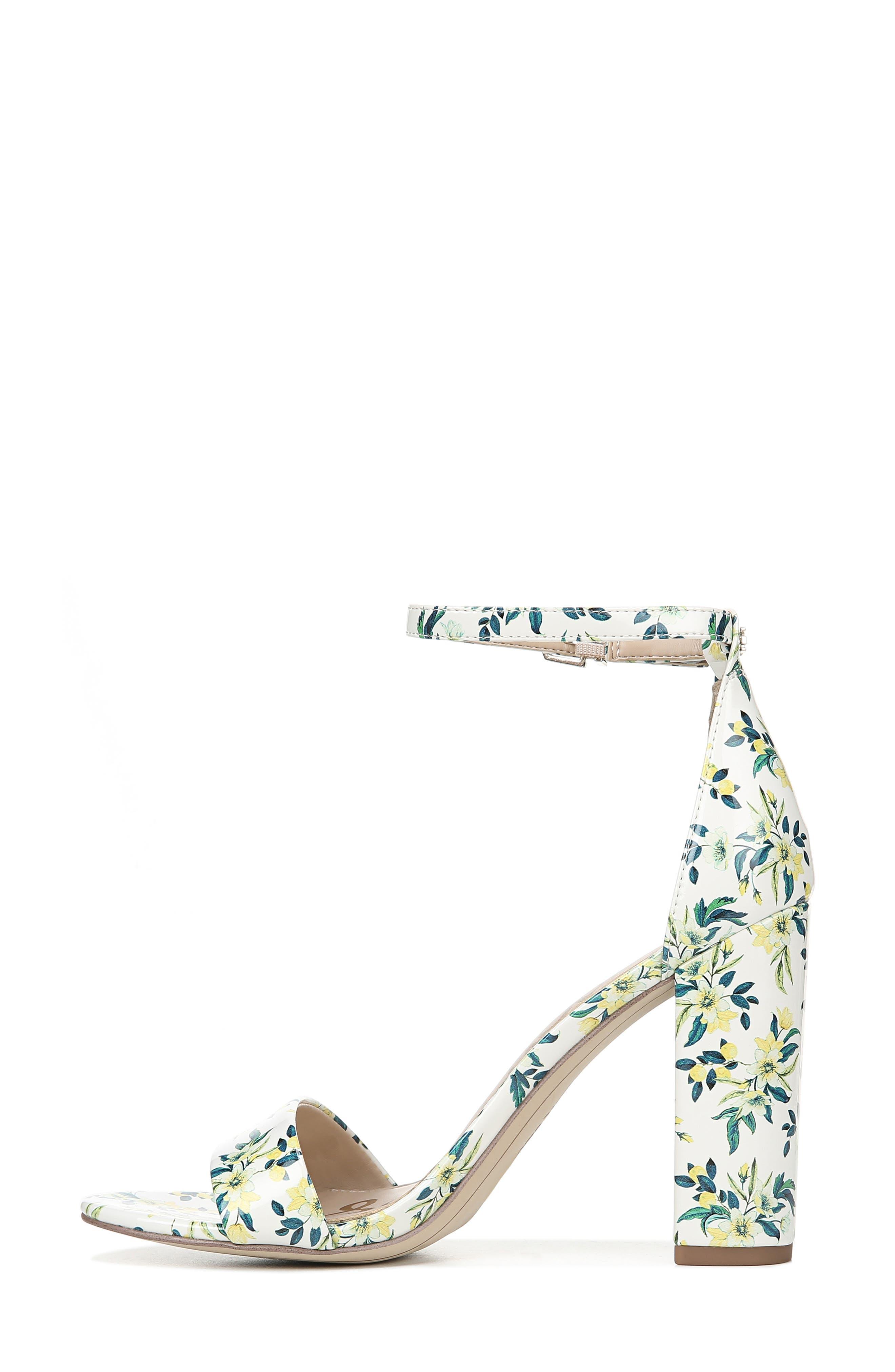 Yaro Ankle Strap Sandal,                             Alternate thumbnail 9, color,                             WHITE MULTI FABRIC