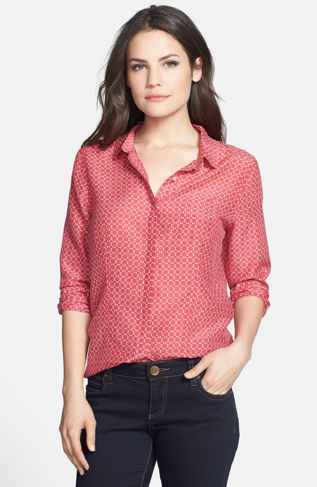 Cotton & Silk Shirt,                             Main thumbnail 34, color,
